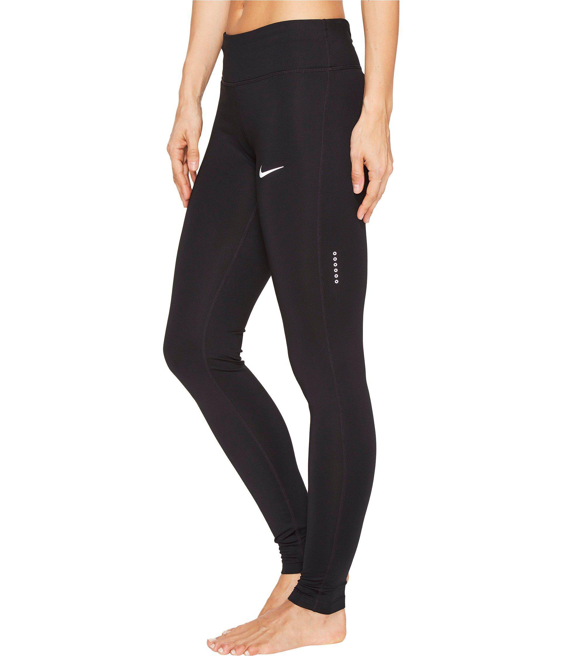 777f761249 Lyst - Nike Power Essential Running Tight (black/black) Women's ...