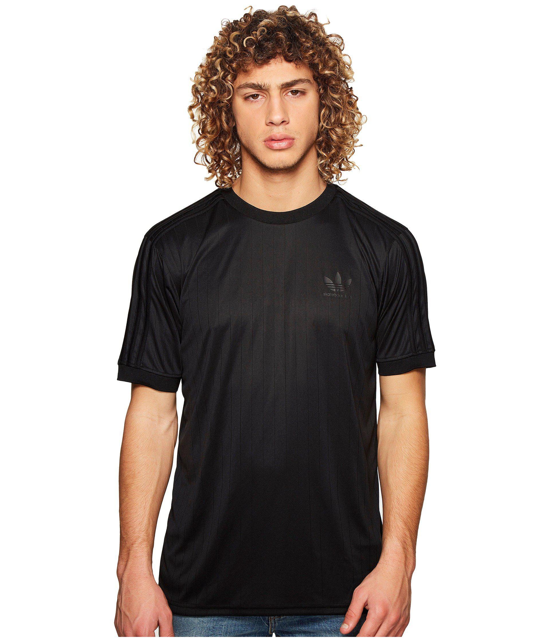 adidas Originals Synthetic Clima Club Jersey (black/black) Men's T ...