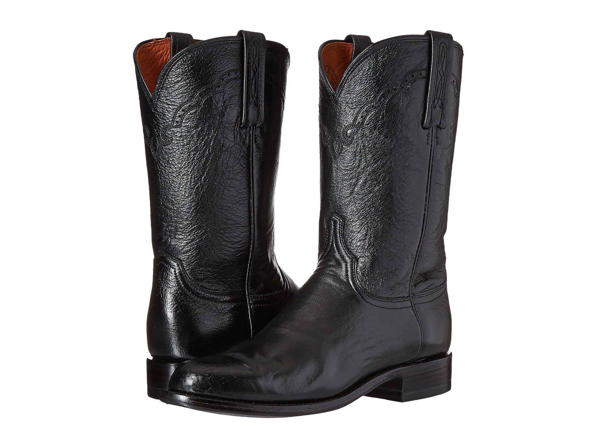 5632bf8faa3 Lucchese M1010 (black Lonestar Calf) Cowboy Boots for men