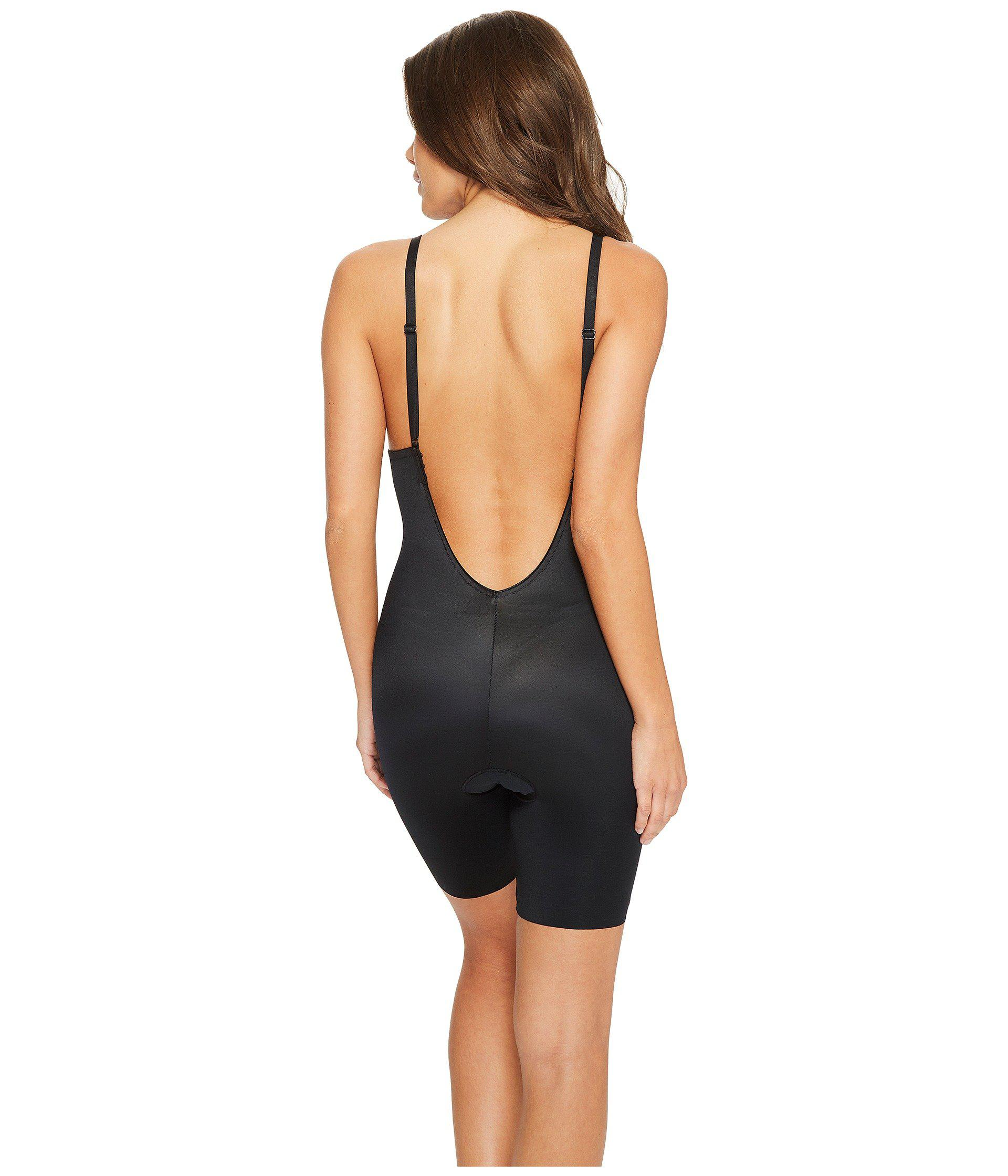 e3eb40c021c Spanx - Suit Your Fancy Plunge Low-back Mid-thigh Bodysuit (very Black.  View fullscreen