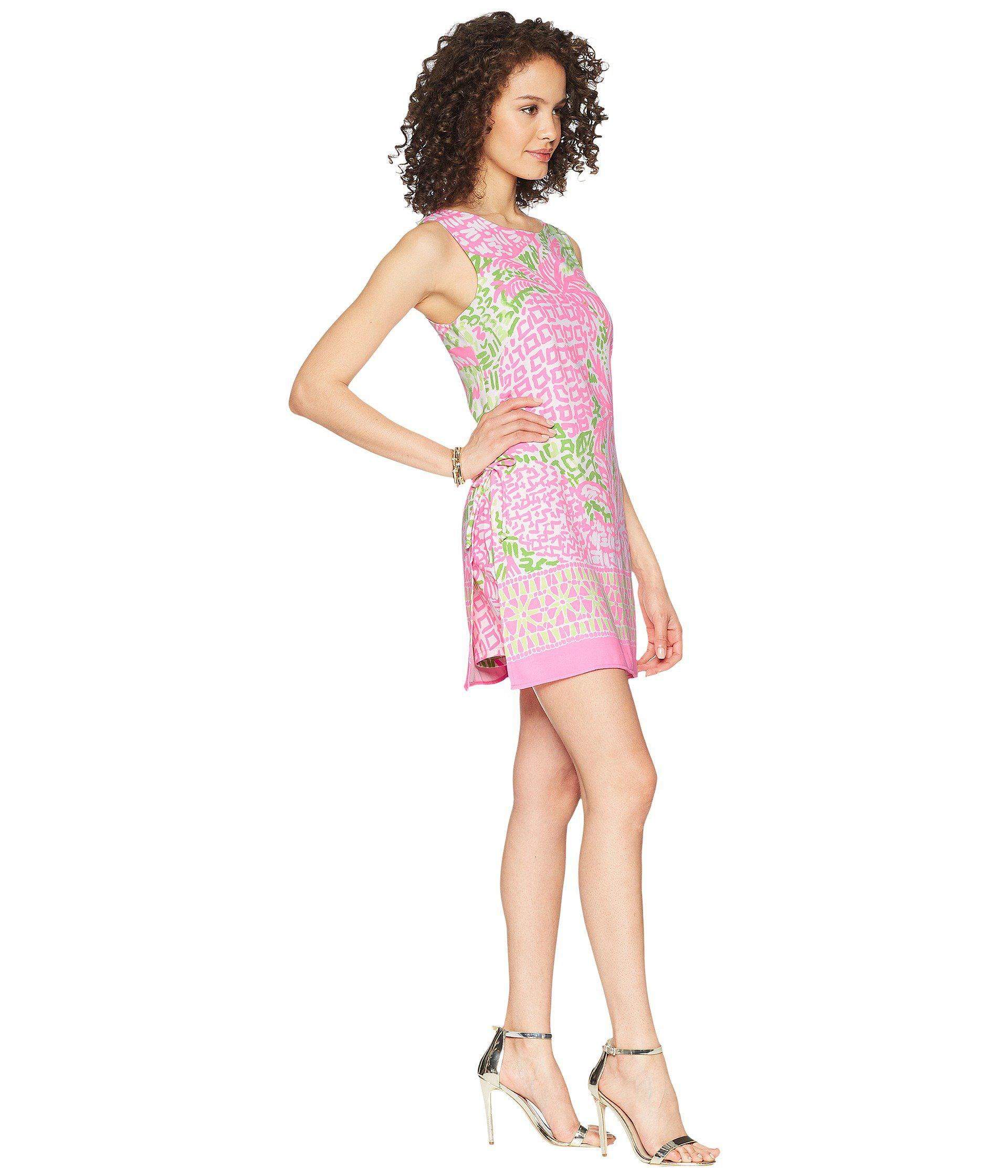 3c09b5b00d9 Lyst - Lilly Pulitzer Donna Romper (pink Sunset Home Slice) Women s ...