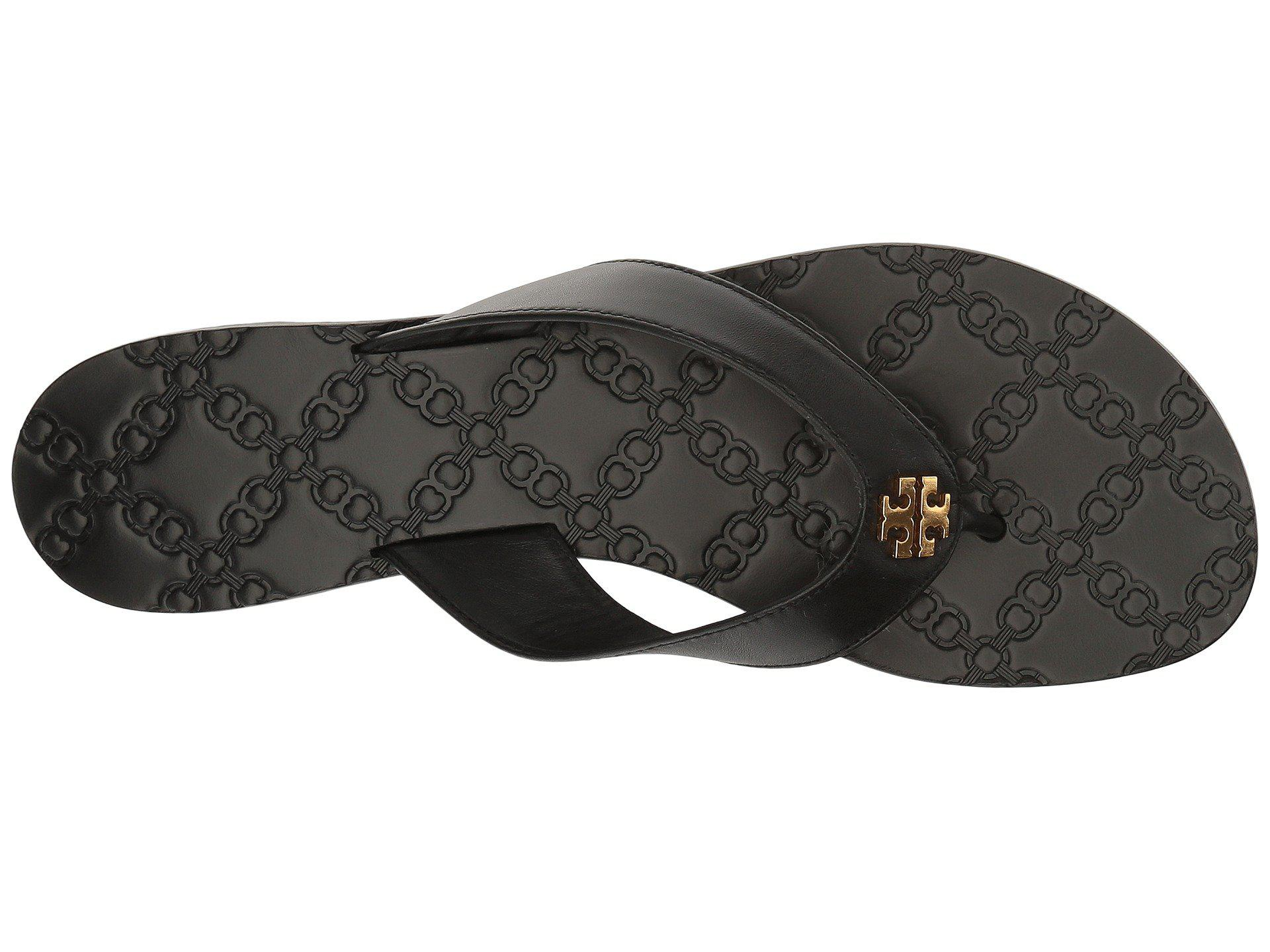 9e4e8cefc8e Tory Burch - Black Monroe Thong - Lyst. View fullscreen