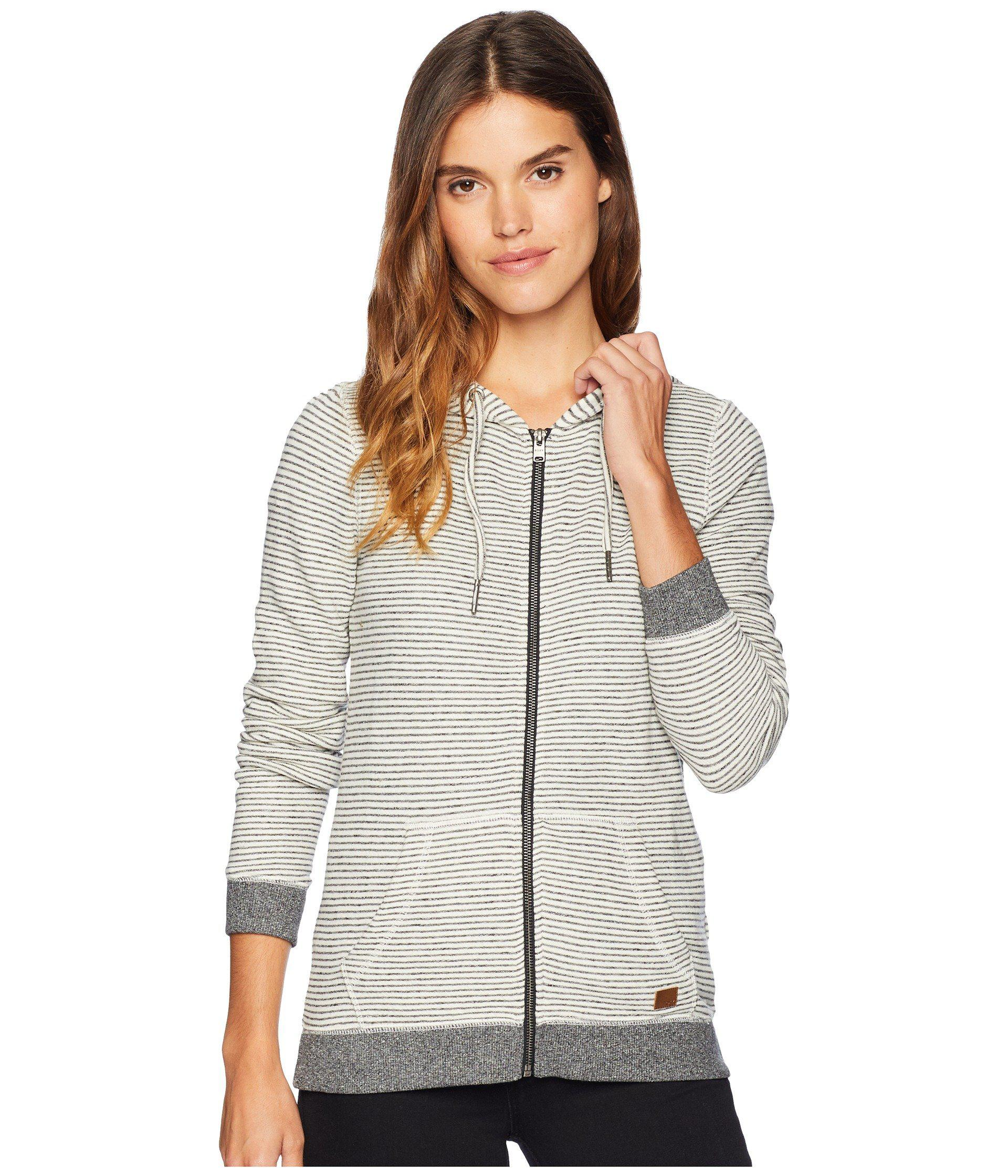 592b01080a41 Lyst - Roxy Trippin Stripes Fleece Full Zip Top (turbulence Thin ...