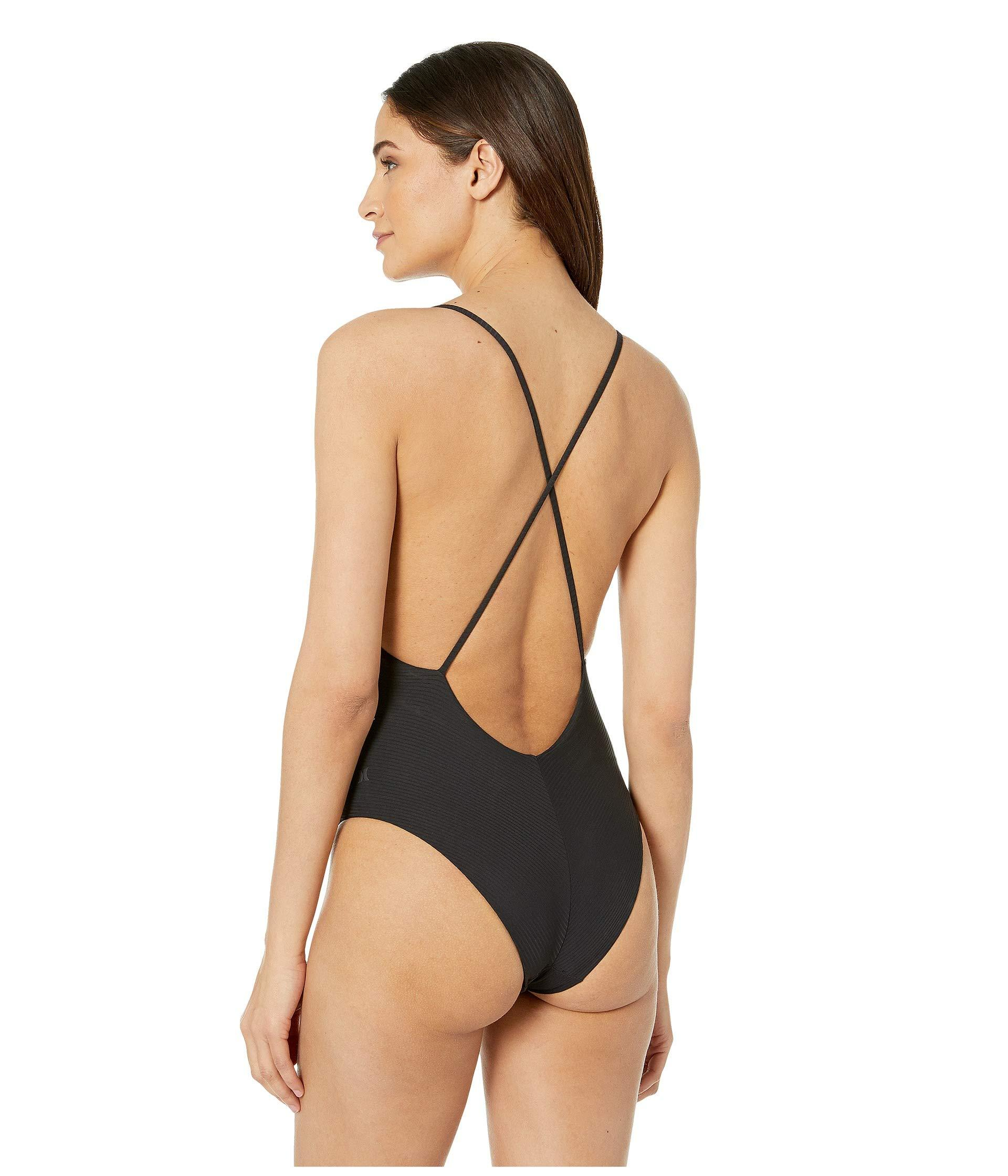 7826d7b949 Lyst - Hurley Rib Embroidery Strappy One-piece (black) Women s ...