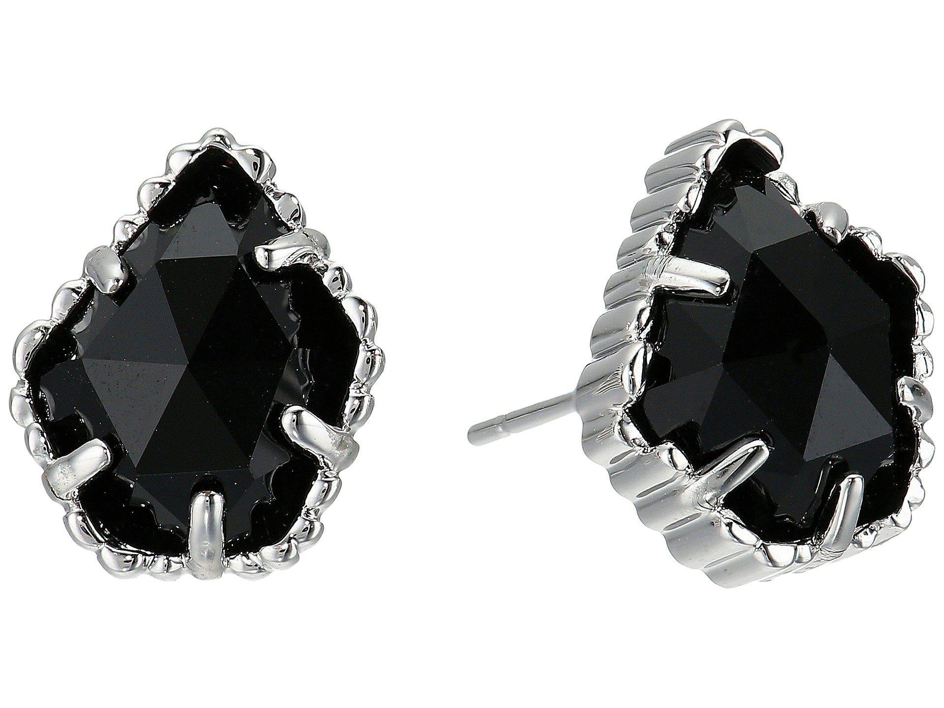 4bf0b8138 Kendra Scott. Women's Black Tessa Earring (rhodium Platinum Drusy) Earring