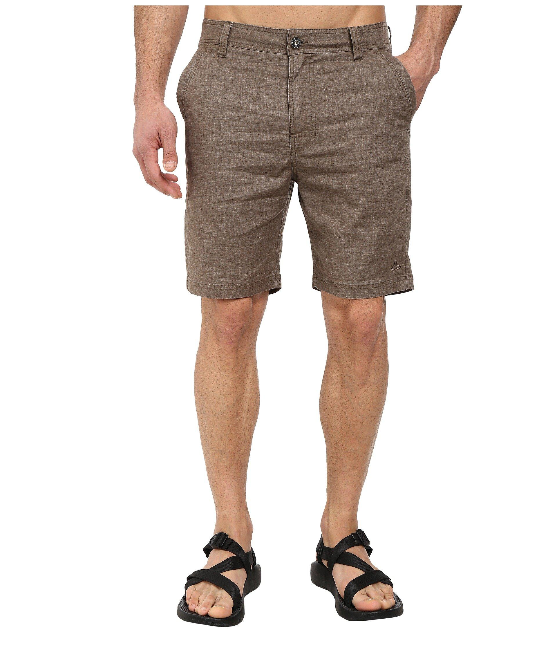prAna Men/'s Bronson 11-Inch Inseam Shorts Mud Size 31 New