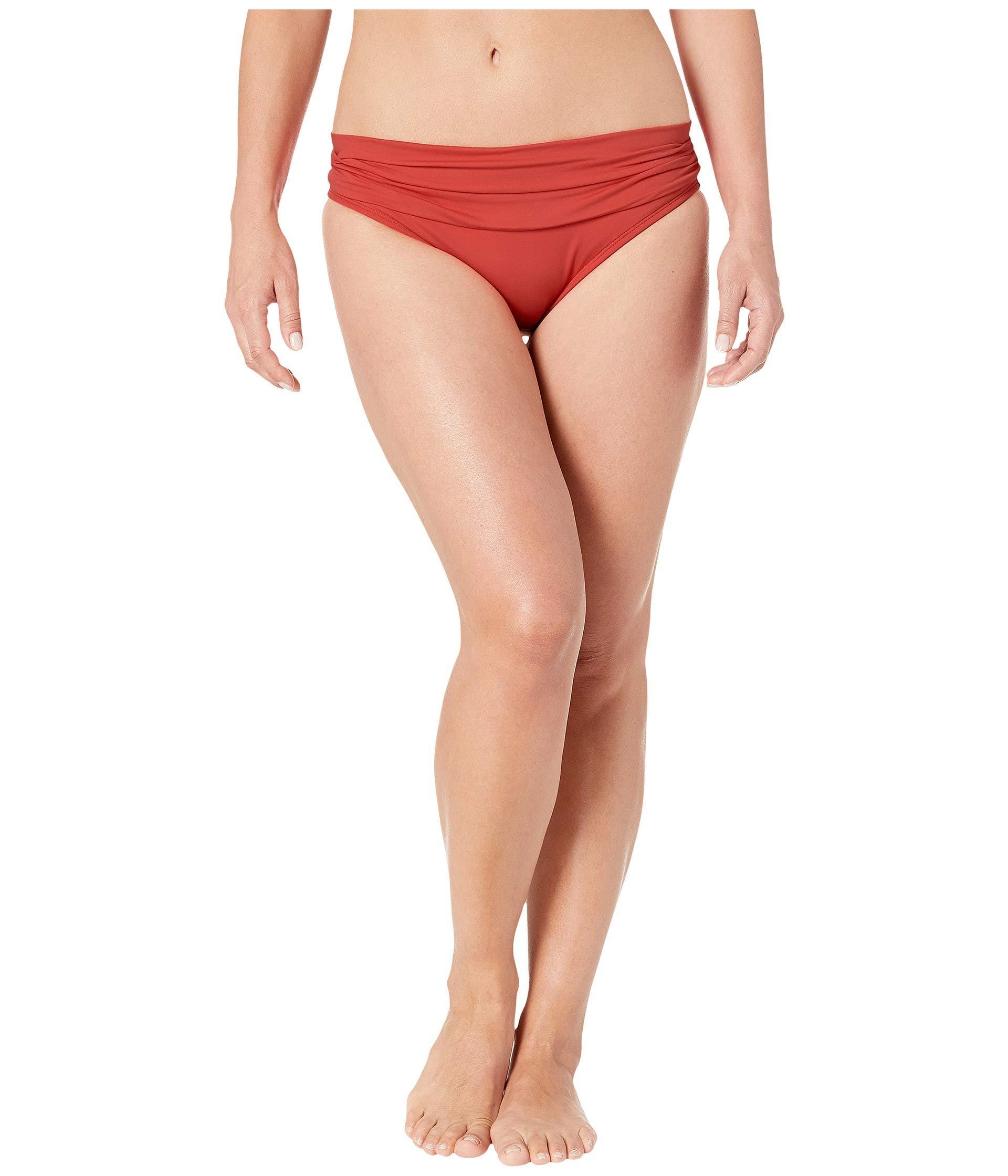 021d9d0ba97 La Blanca. Island Goddess Shirred Waist Hipster Bottom (white) Women's  Swimwear