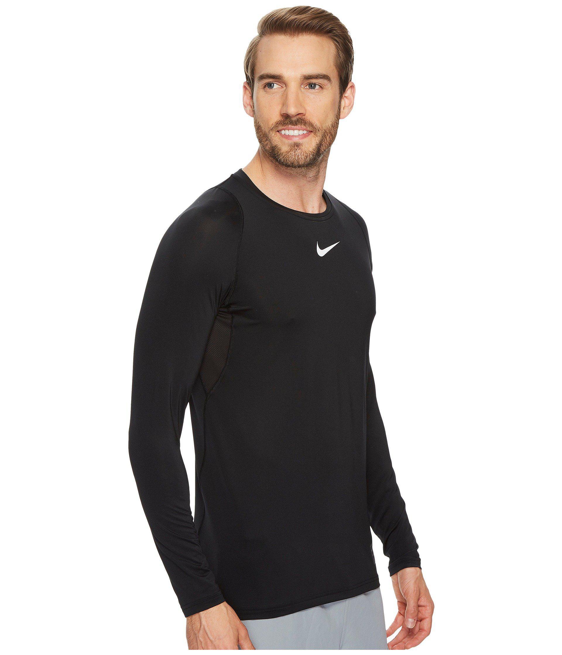 925d358e Nike - Black Pro Fitted Long Sleeve Training Top (obsidian/white/white).  View fullscreen