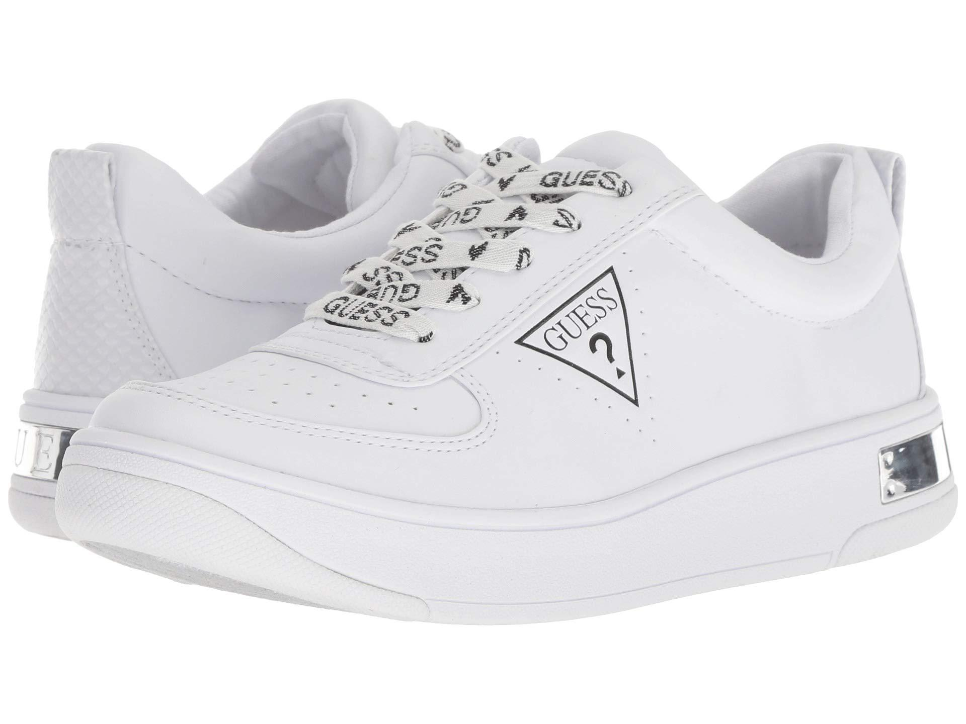 Guess Leather Hype Lace Up Sneakers in