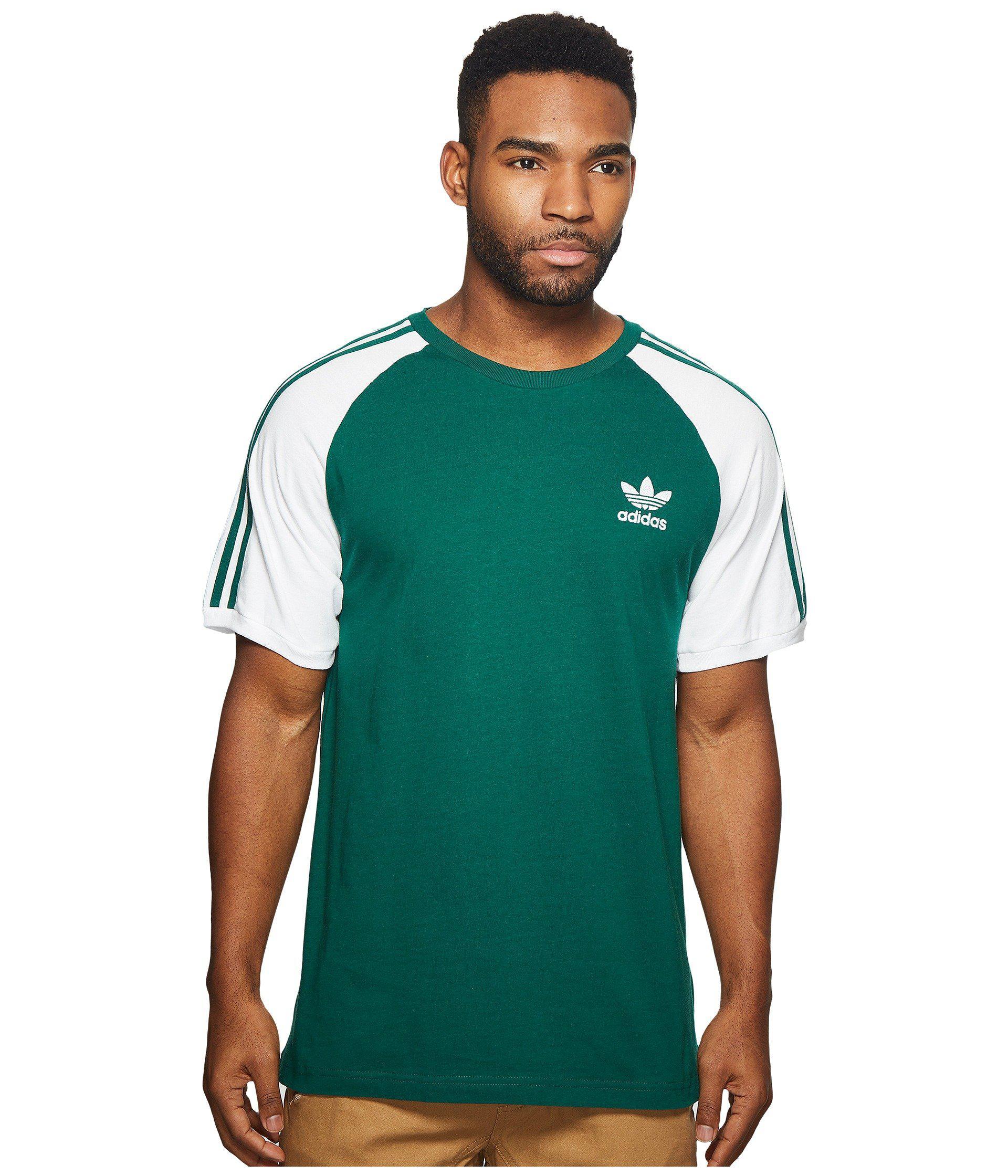 13675b10 adidas Originals 3-stripes Tee (black) Men's T Shirt in Green for ...