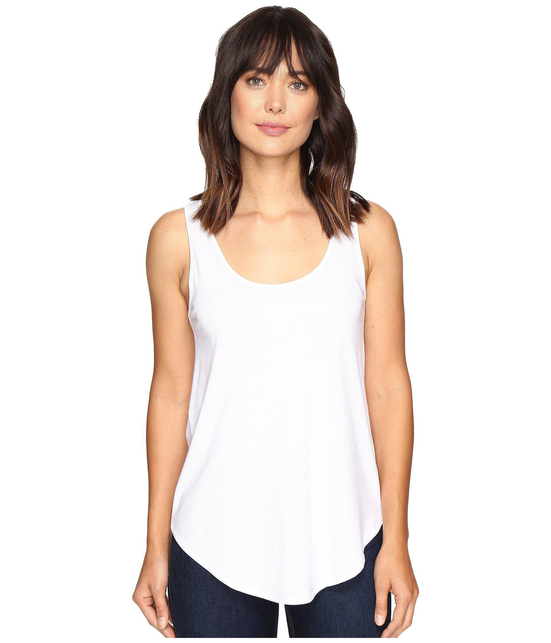 bb180b744af5c7 Lyst - Lilla P Pima Modal Shirttail Scoop (black) Women s Clothing ...