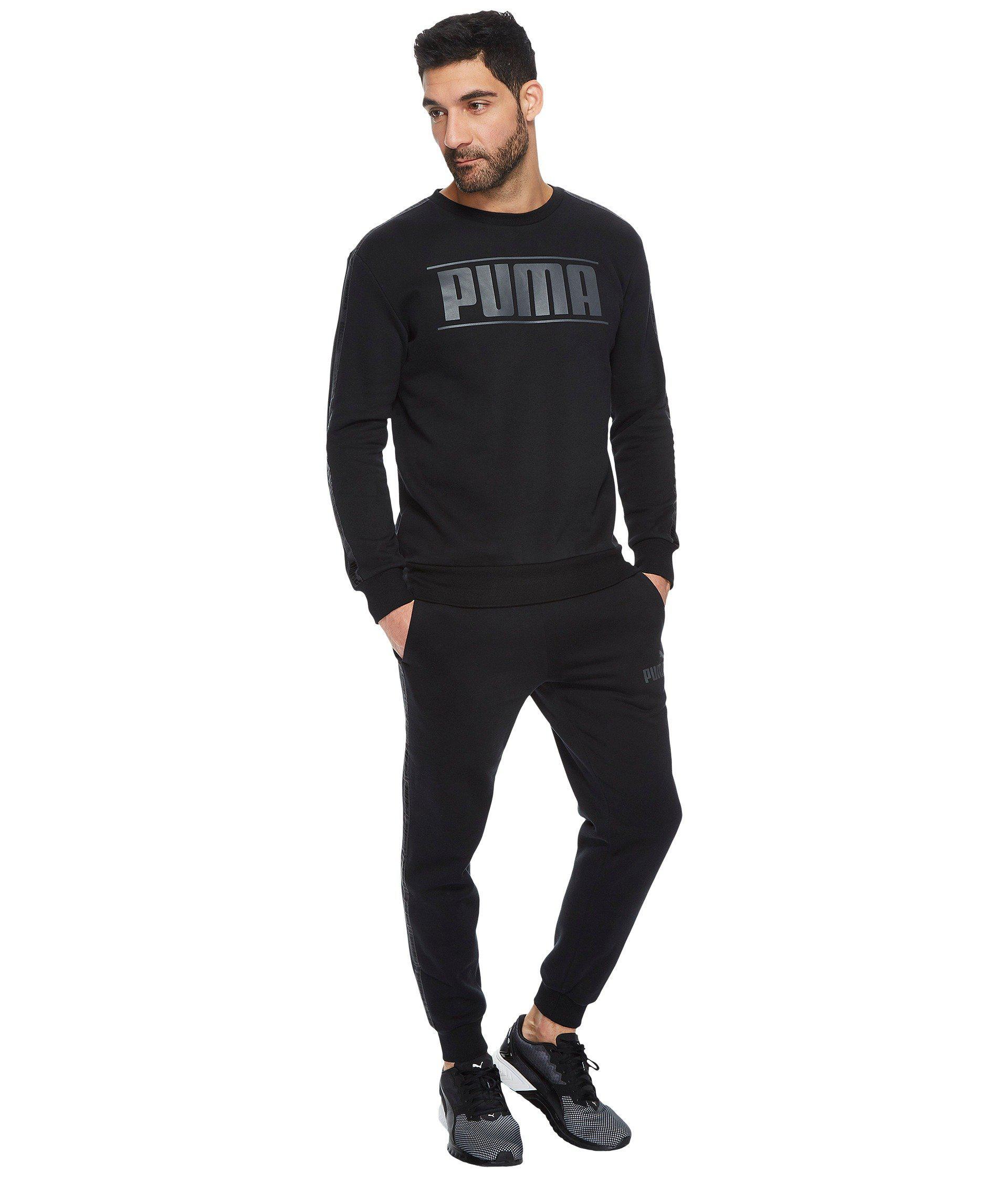 Fleece For Men Puma Rebel Black In Lyst Tape Crew 0IPwqOITx