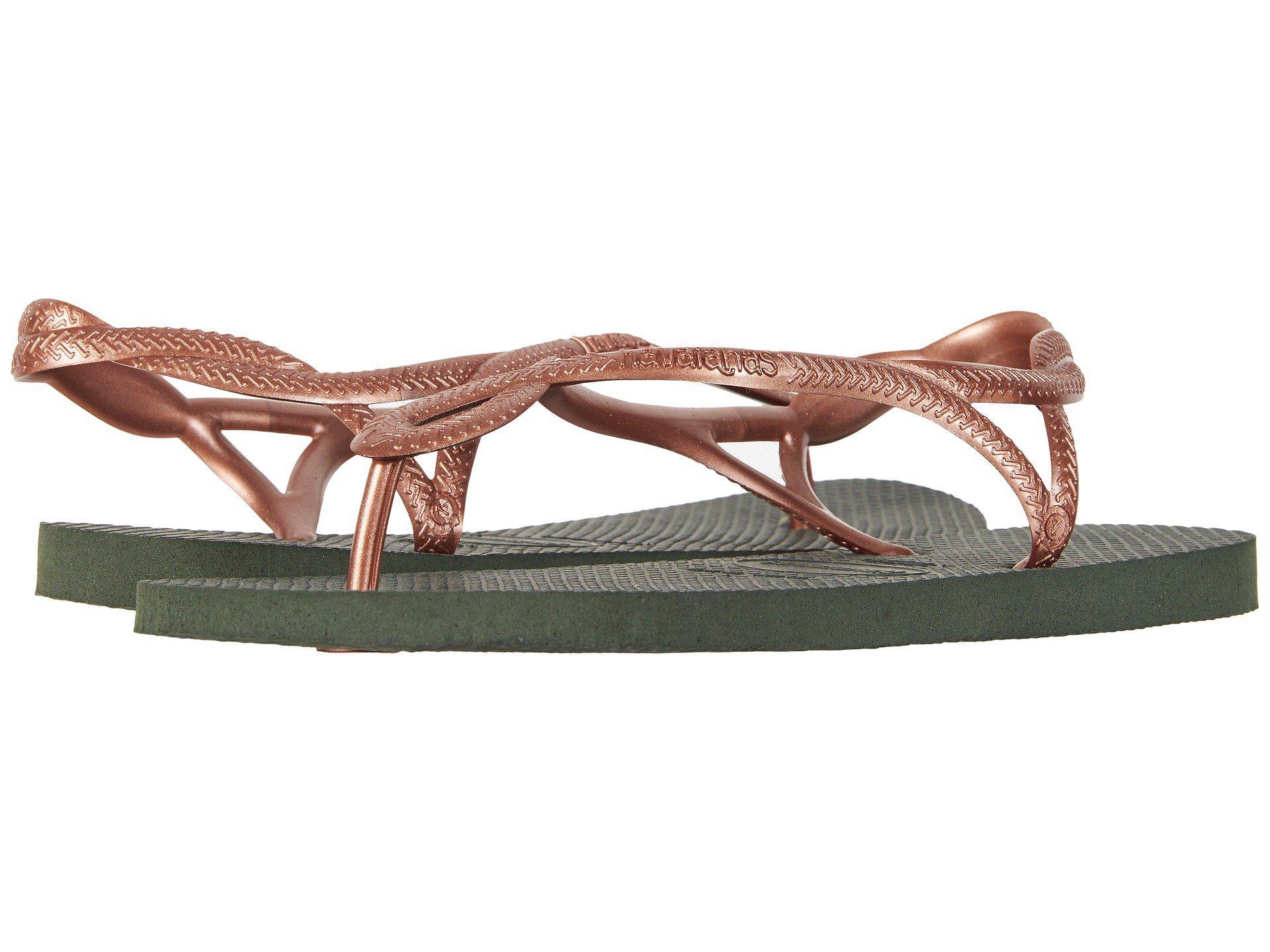 65d271c516ed Lyst - Havaianas Luna Flip Flops (navy Blue silver) Women s Sandals