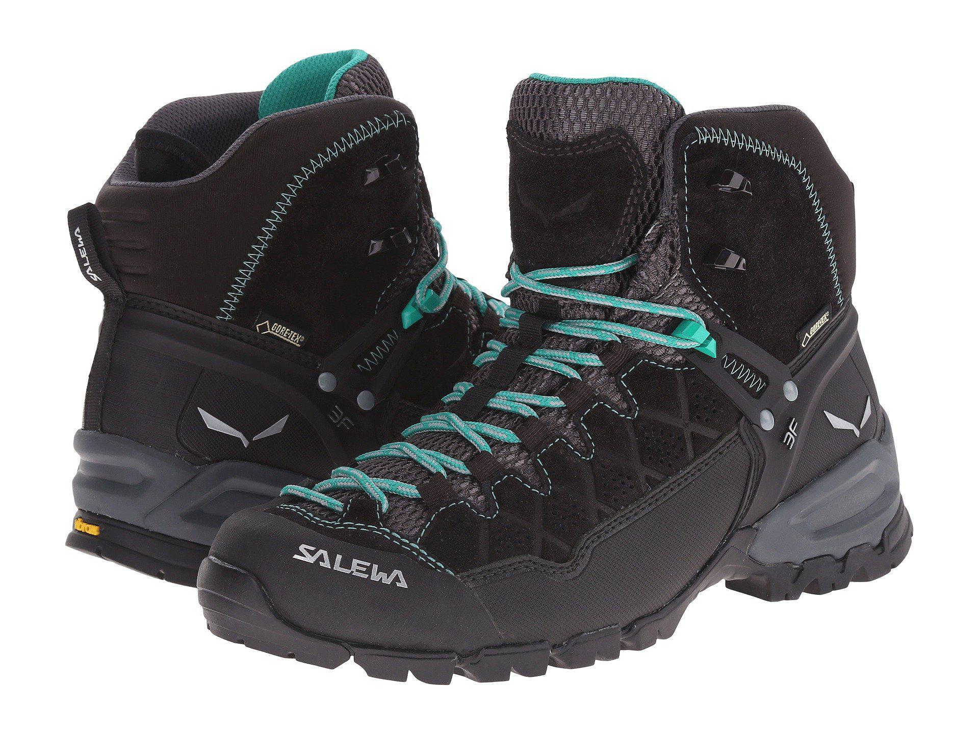Lyst - Salewa Alp Trainer Mid Gtx(r) (black Out agata) Women s Shoes ... aa5d4ae028