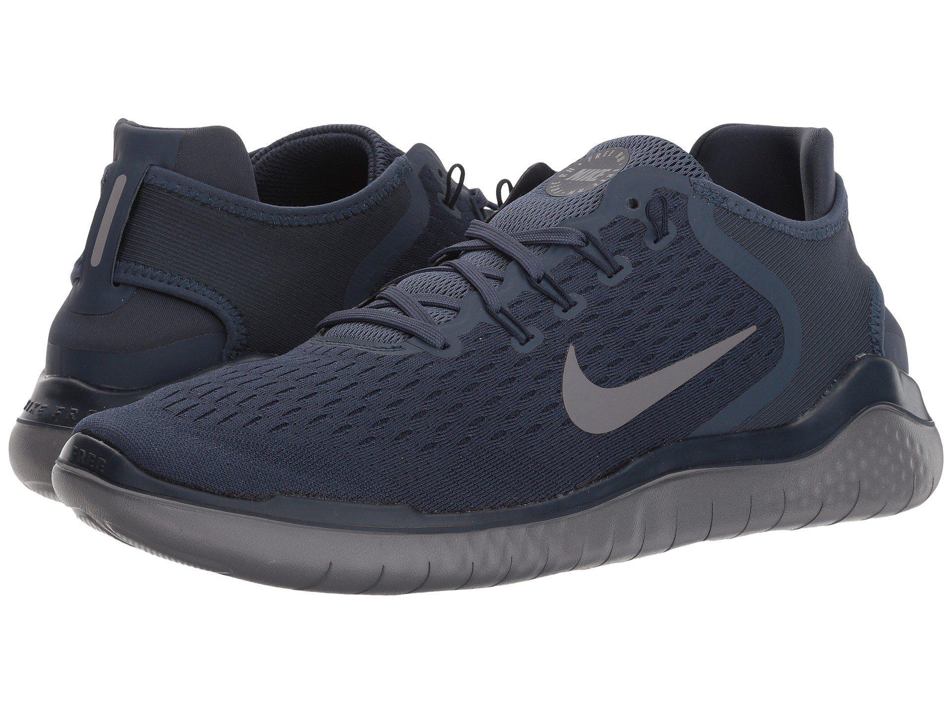 ff86c6543dbf9 ... czech lyst nike free rn 2018 white black mens running shoes in blue  4d788 1bb79