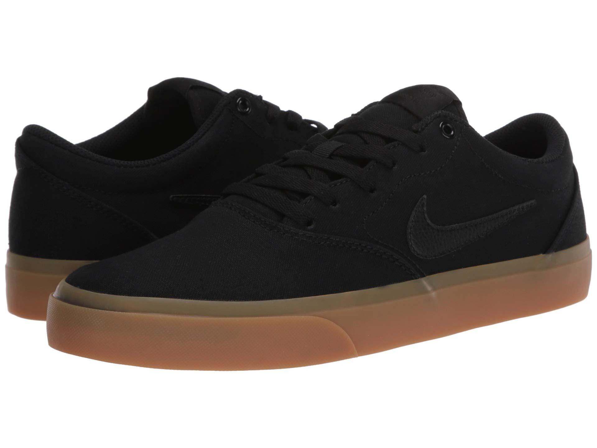 Nike Canvas SB Charge Skate Shoes in Black for Men - Lyst