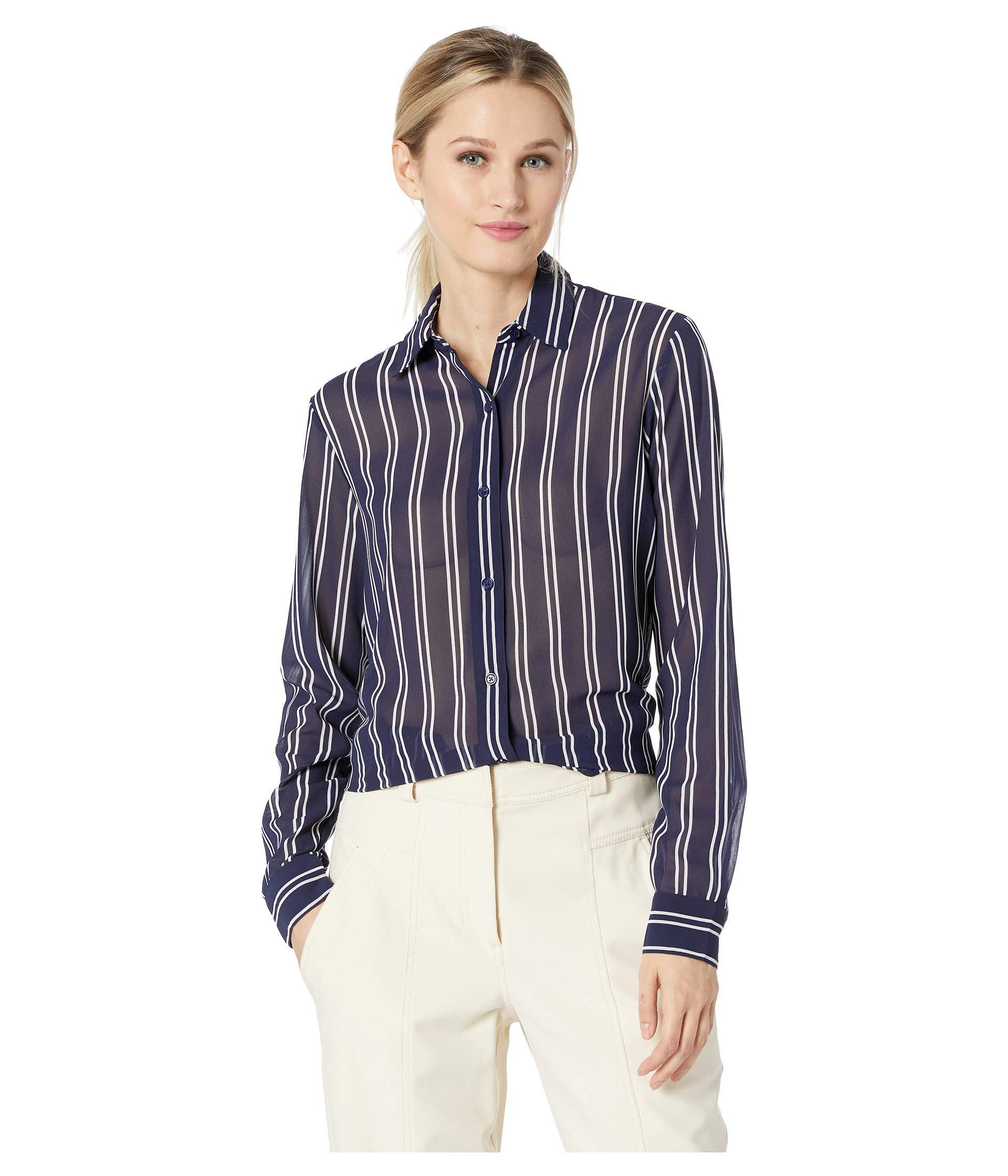 23e944e7613 Lyst - MICHAEL Michael Kors Mega Railroad Stripe Shirt (true Navy ...