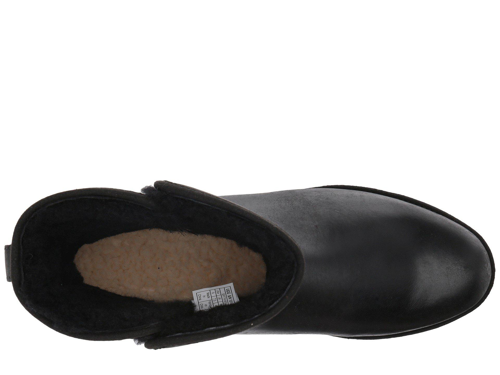 bf7a3e54665 Ugg Black Kristin Leather