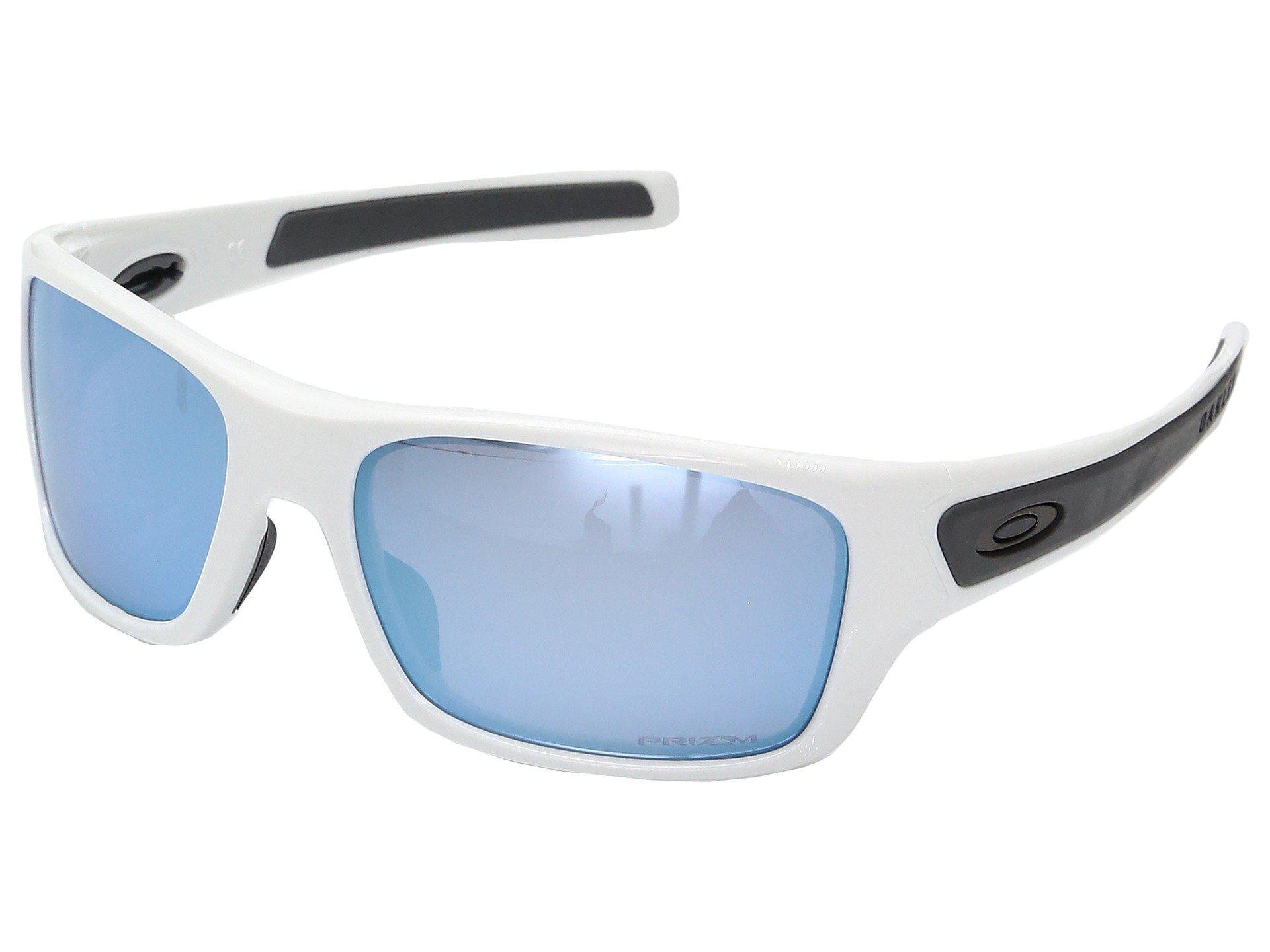 845150bec4 Oakley. Men s Blue Turbine Xs (polished White W  Prizm Deep Water Polarized)  Fashion Sunglasses