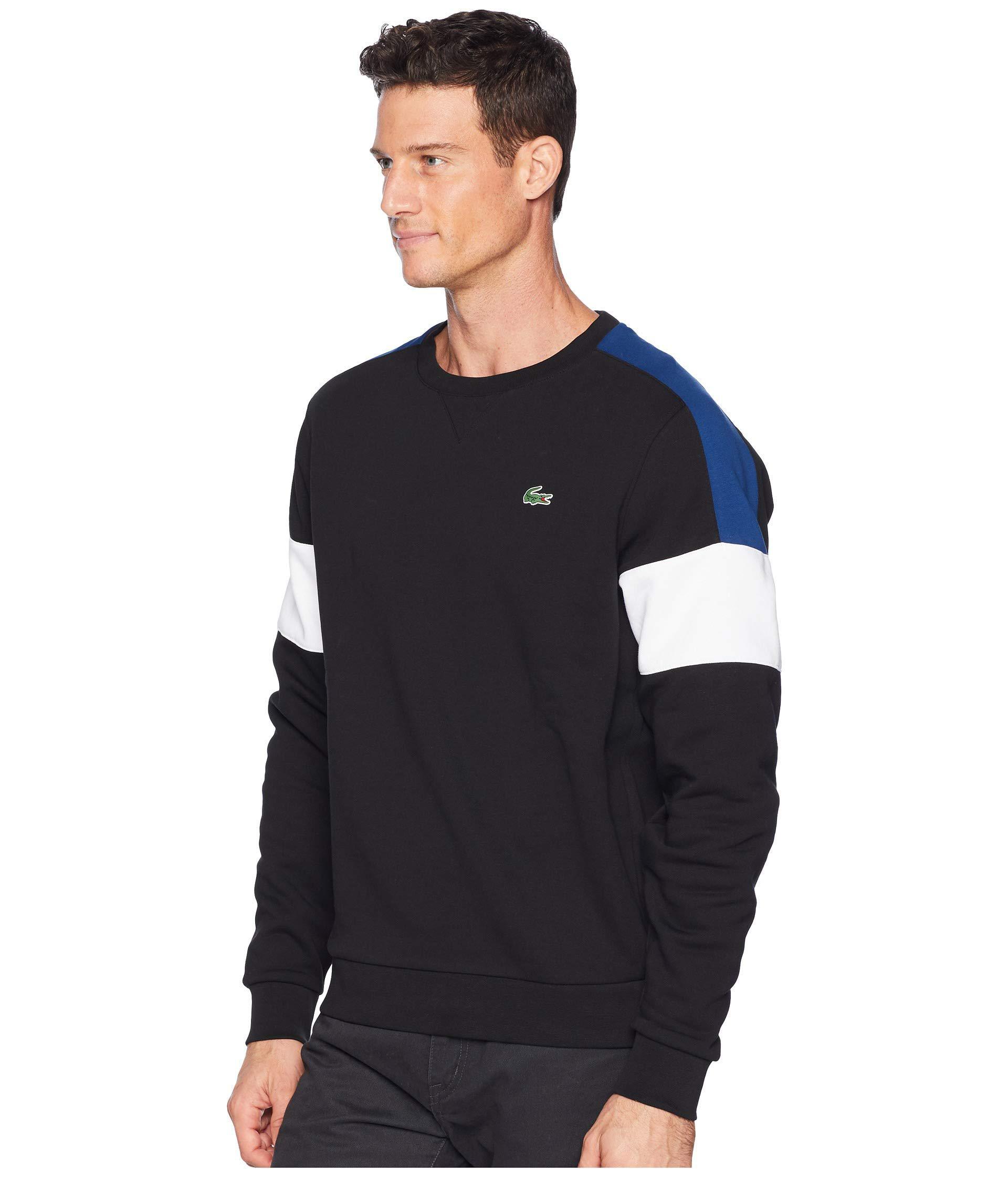 9926de73f Lyst - Lacoste Sport Semi Fancy Sweatshirt W  Contrast Color Yoke ...