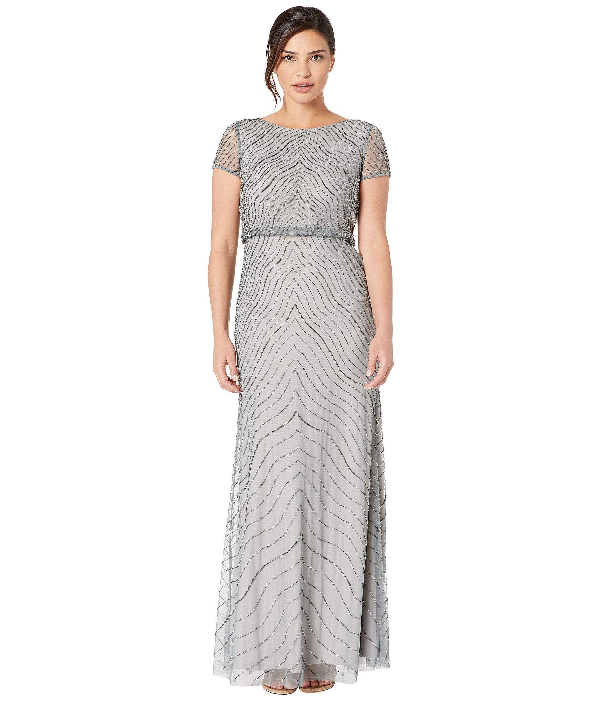 9730cd63e60f ... Beaded Blouson Evening Gown (slate) Women's Dress -. View fullscreen