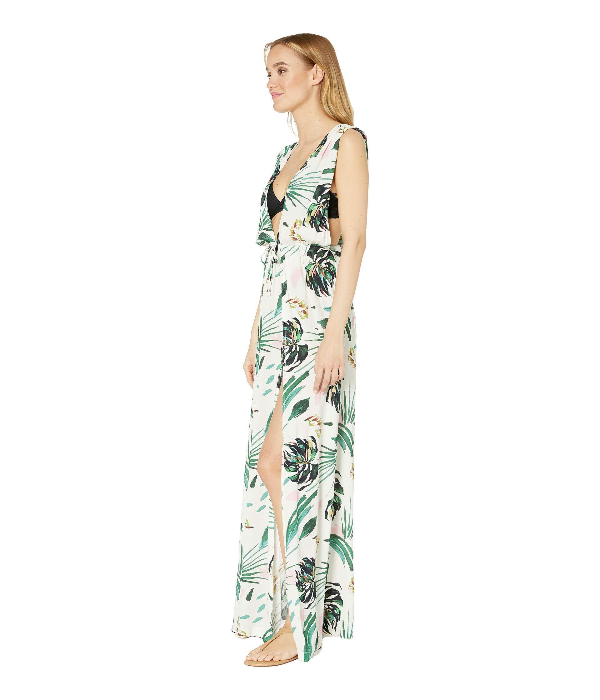 7a125d7de350 BCBGMAXAZRIA Ring Tropicals Overlap Maxi Dress (multi) Women's Swimwear -  Lyst