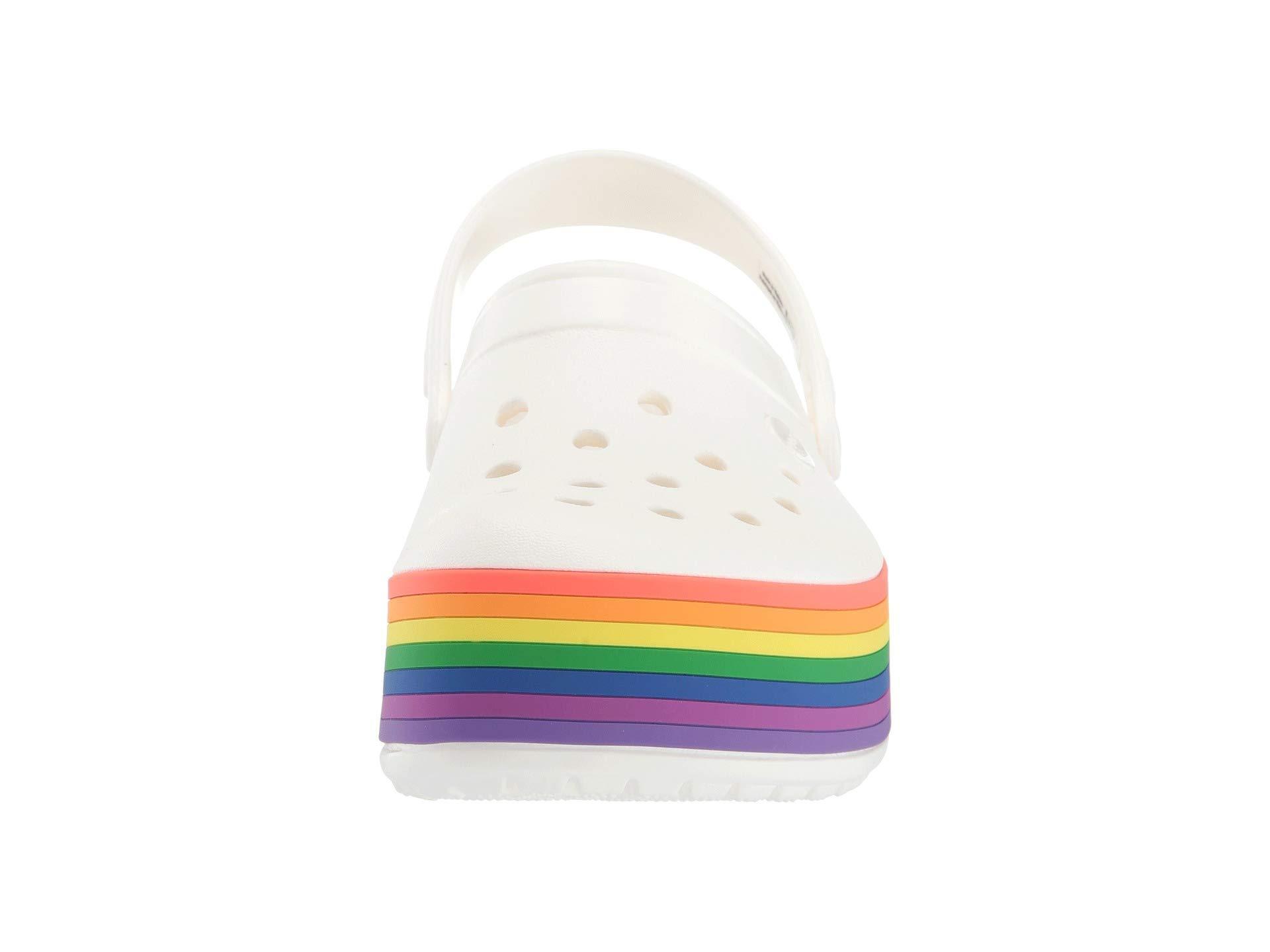 Crocband Platform Rainbow Clog