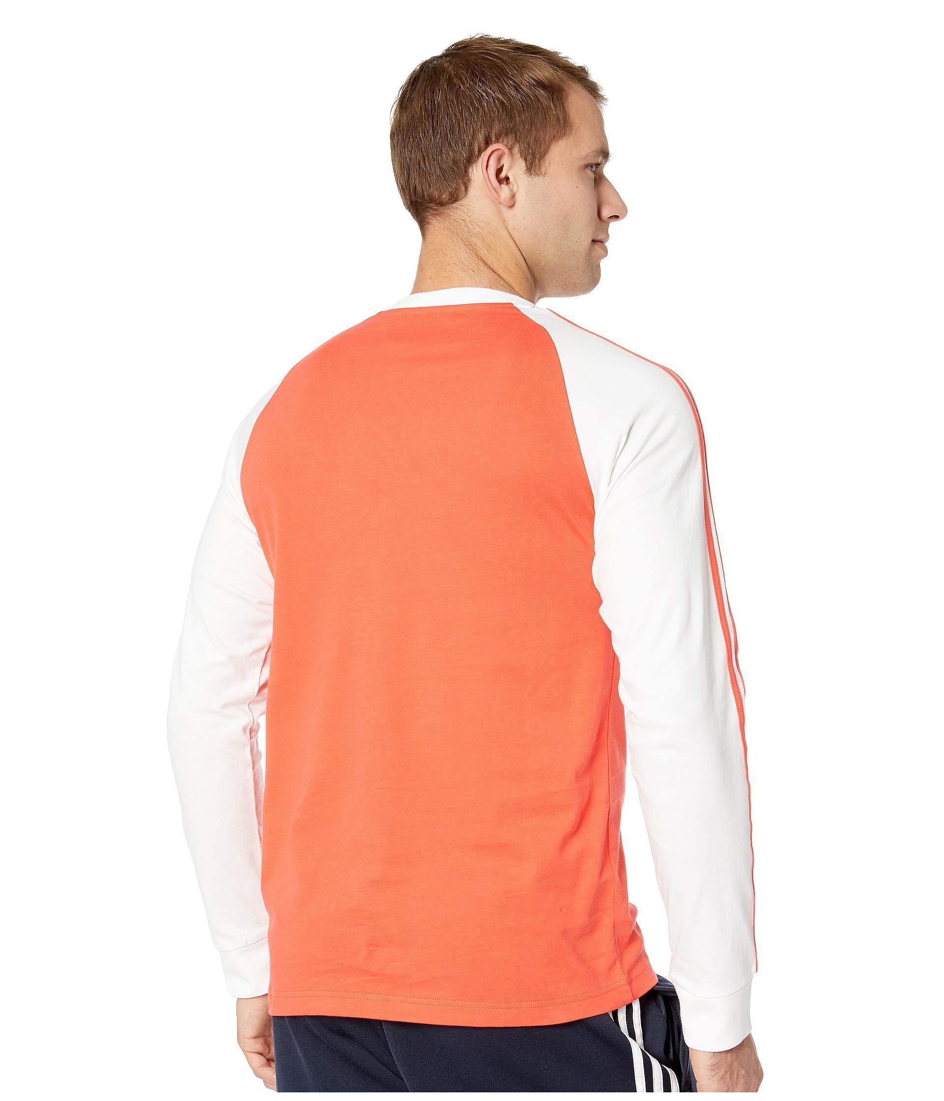82588705d adidas Originals 3-stripes Long Sleeve Tee (shock Pink) Men's T ...
