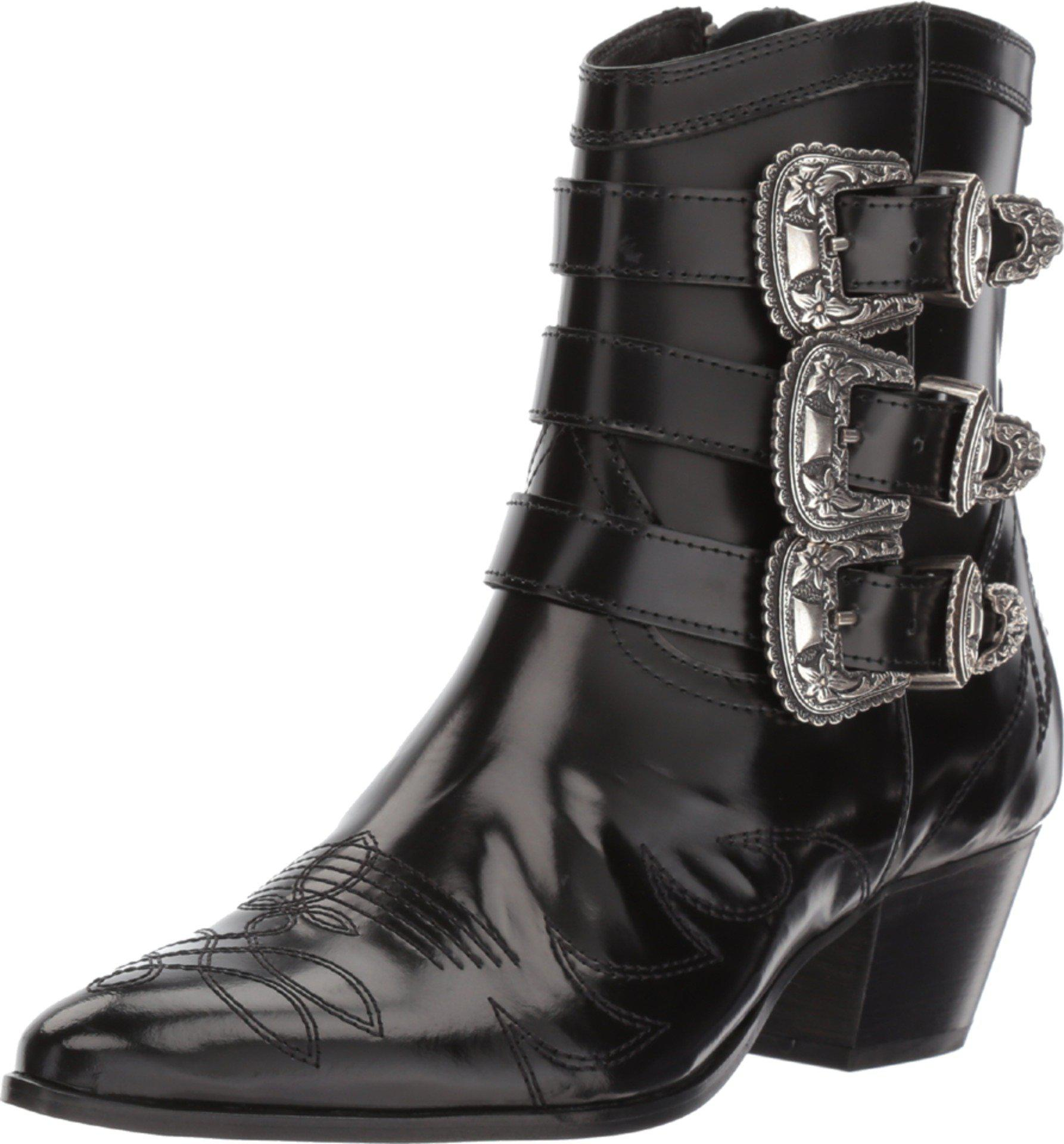 30c92e150d8 Women's Black Leather Cowboy Boots