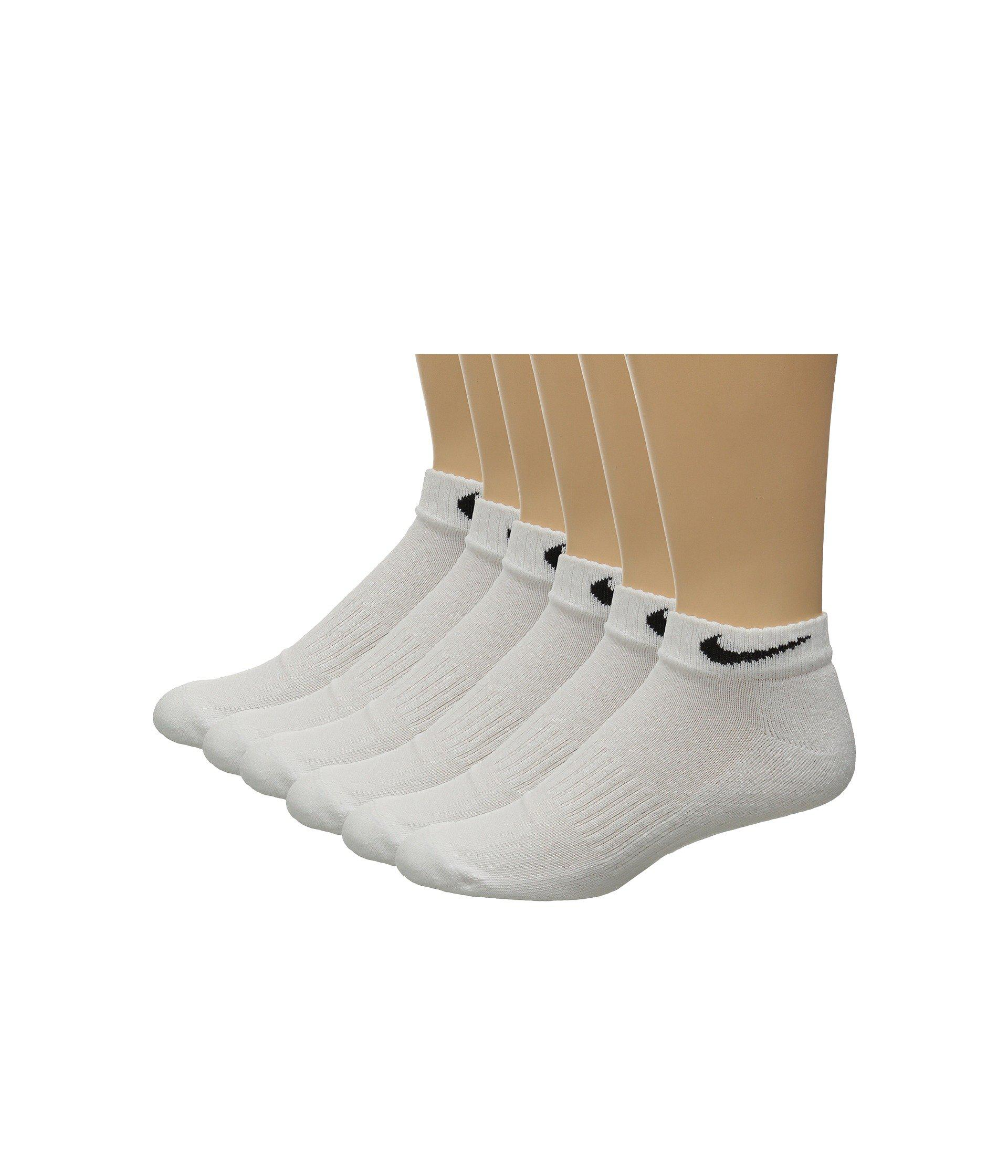 2e2534bd3 Lyst - Nike Band Cotton Low Cut 6-pack (black white) Low Cut Socks ...