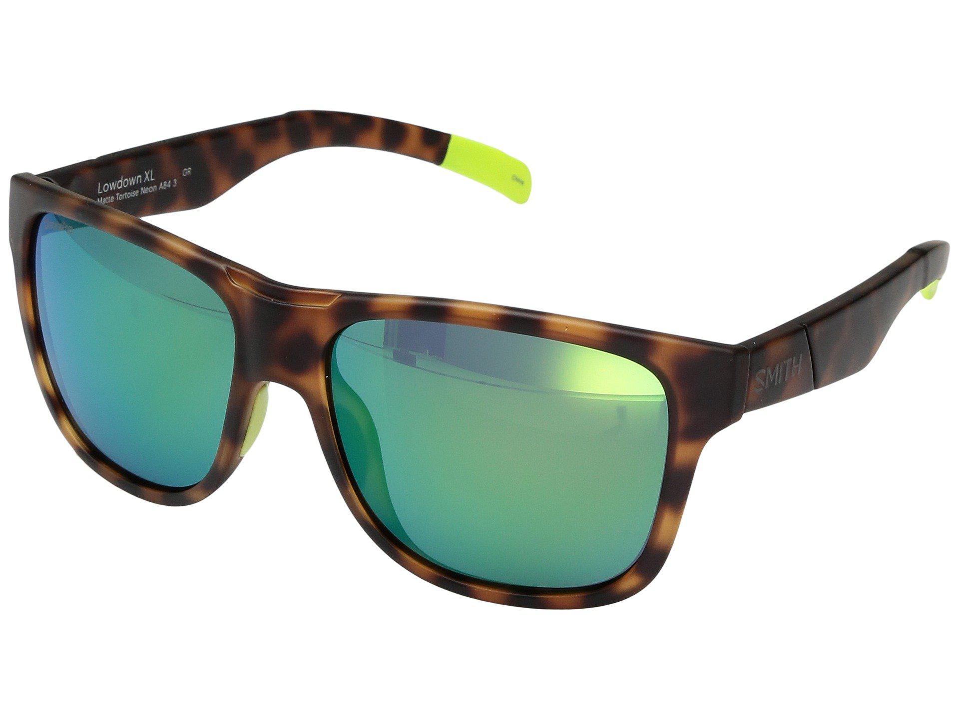 3217736e124 Smith Optics. Men s Lowdown Xl (matte Tortoise Neon chromapop Sun Green  Mirror Lens) Fashion Sunglasses