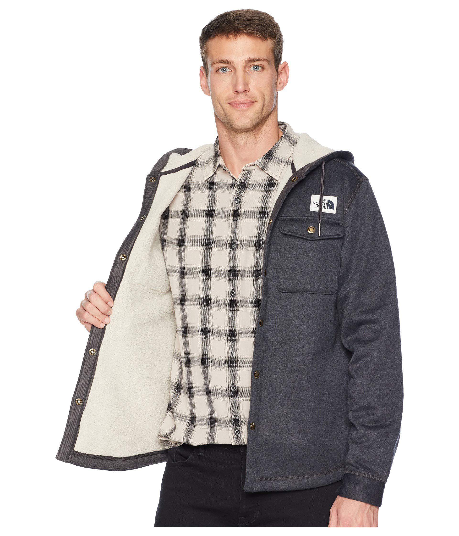 89e6f936fb3 The North Face - Sherpa Patrol Snap-up Hoodie (shady Blue Heather) Men s.  View fullscreen
