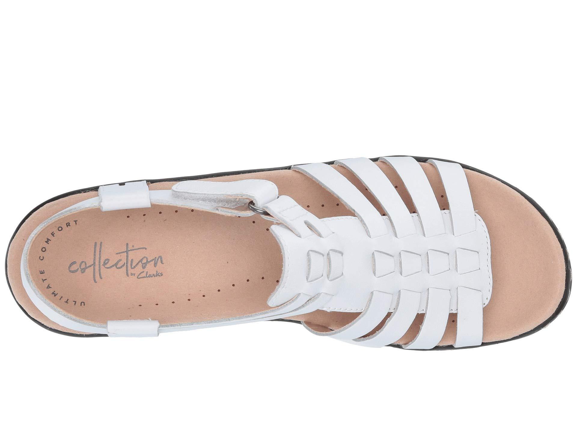 7105ff49e1f Clarks - Multicolor Lexi Bridge (white Leather) Women s Dress Sandals -  Lyst. View fullscreen