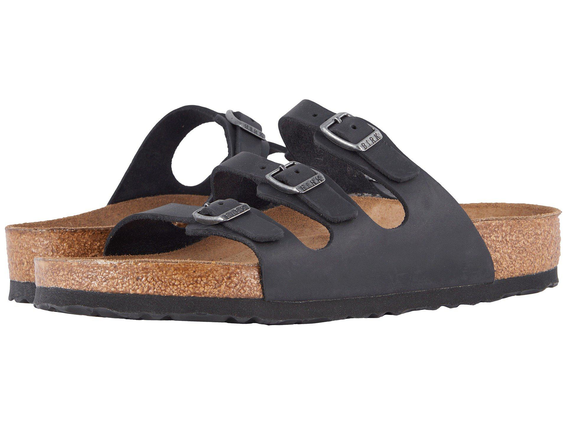 0d6de3d2337d Birkenstock. Black Florida Soft Footbed - Leather (habana Oiled Leather)  Women s Sandals