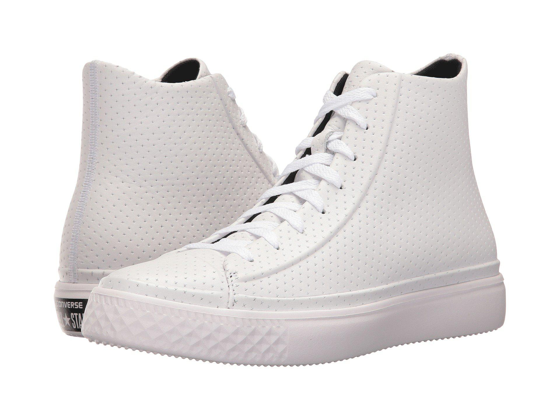 converse leather perforated
