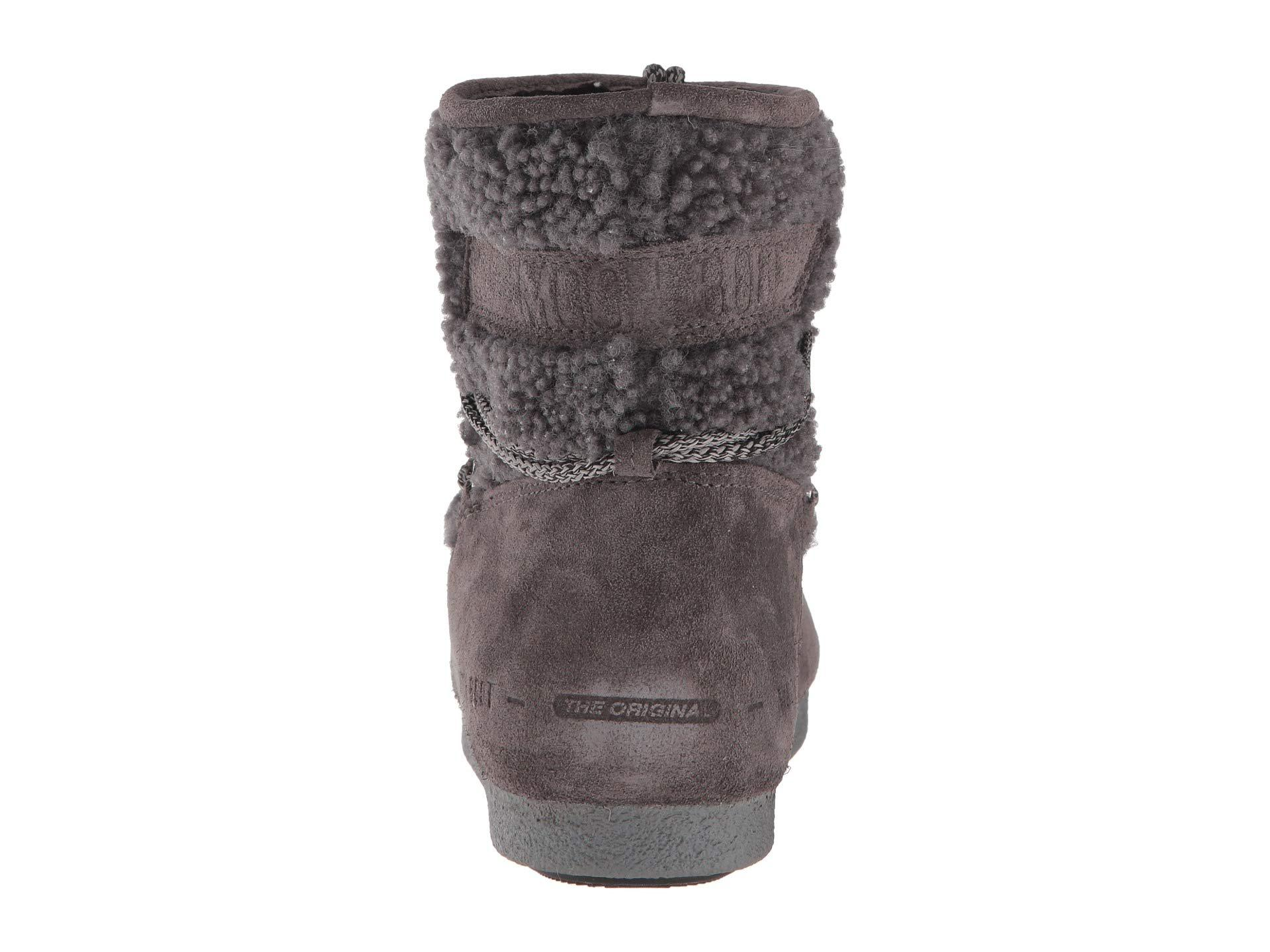 f09ac77411c Lyst - Tecnica Moon Boot Far Side Low Shearling (anthracite) Women s Boots  in Gray