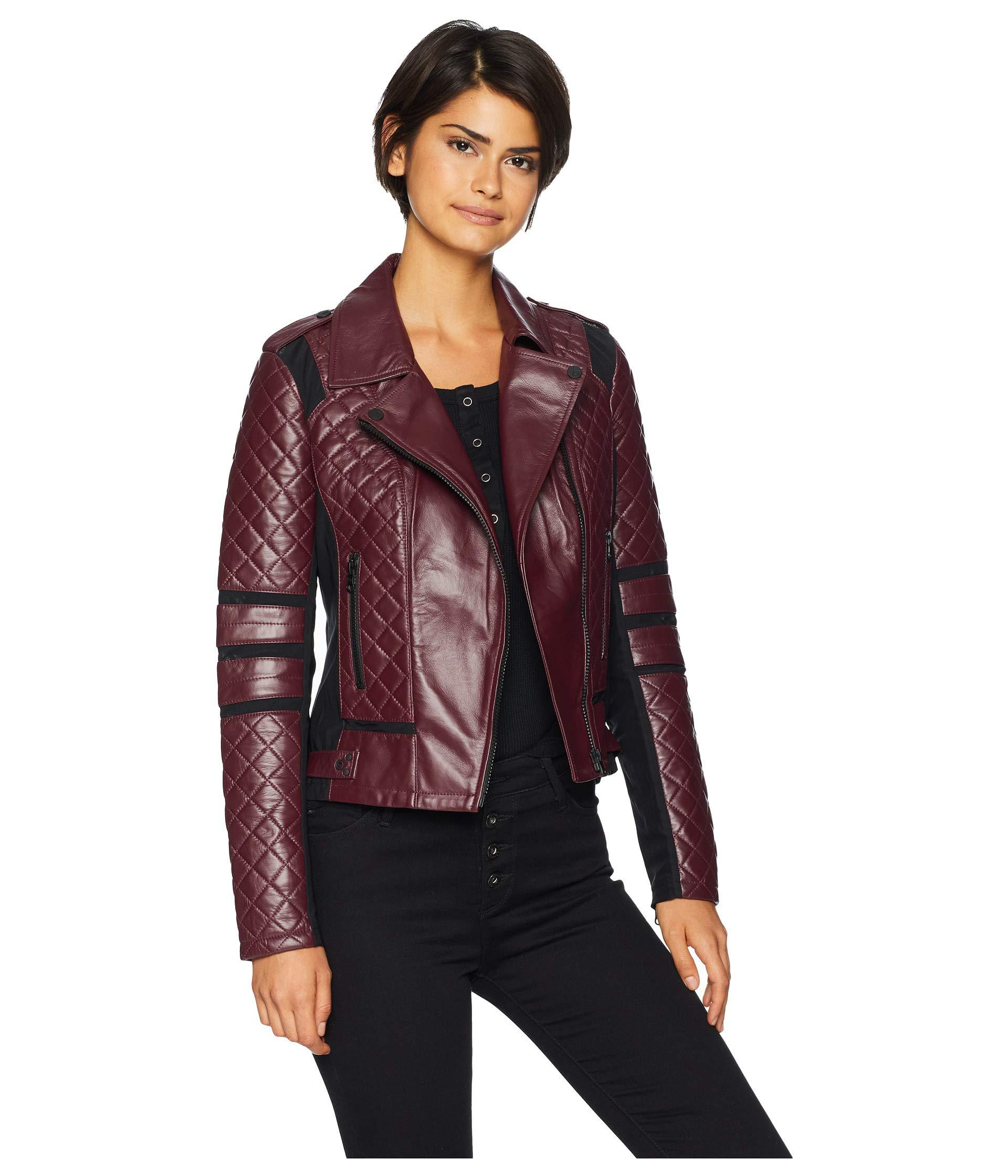 94bc25b0a9ad Lyst - BLANC NOIR Renegade Mesh Moto Jacket (mulberry) Women s Coat ...
