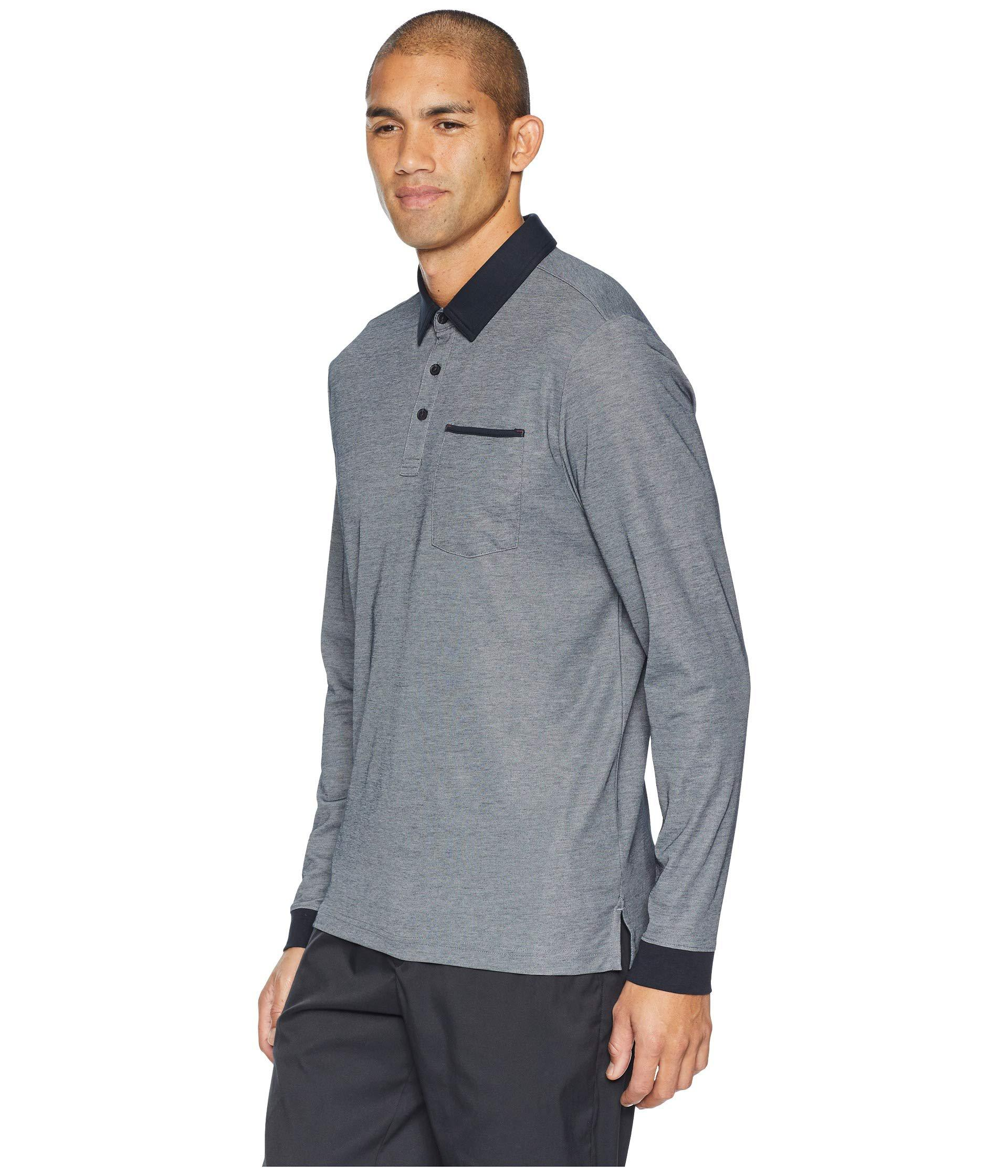 Lyst - Travis Mathew Kay Long Polo (heather Castlerock) Men s Short Sleeve  Knit in Gray for Men - Save 25% 852db4968861