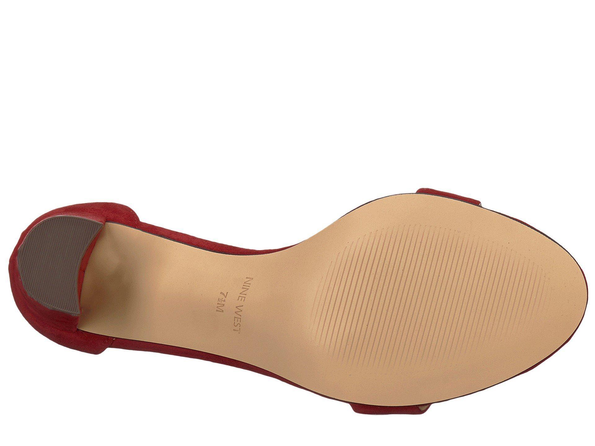 cca449d9714 Nine West Pruce Block Heel Sandal (ruby Red Isa Kid Suede) High Heels