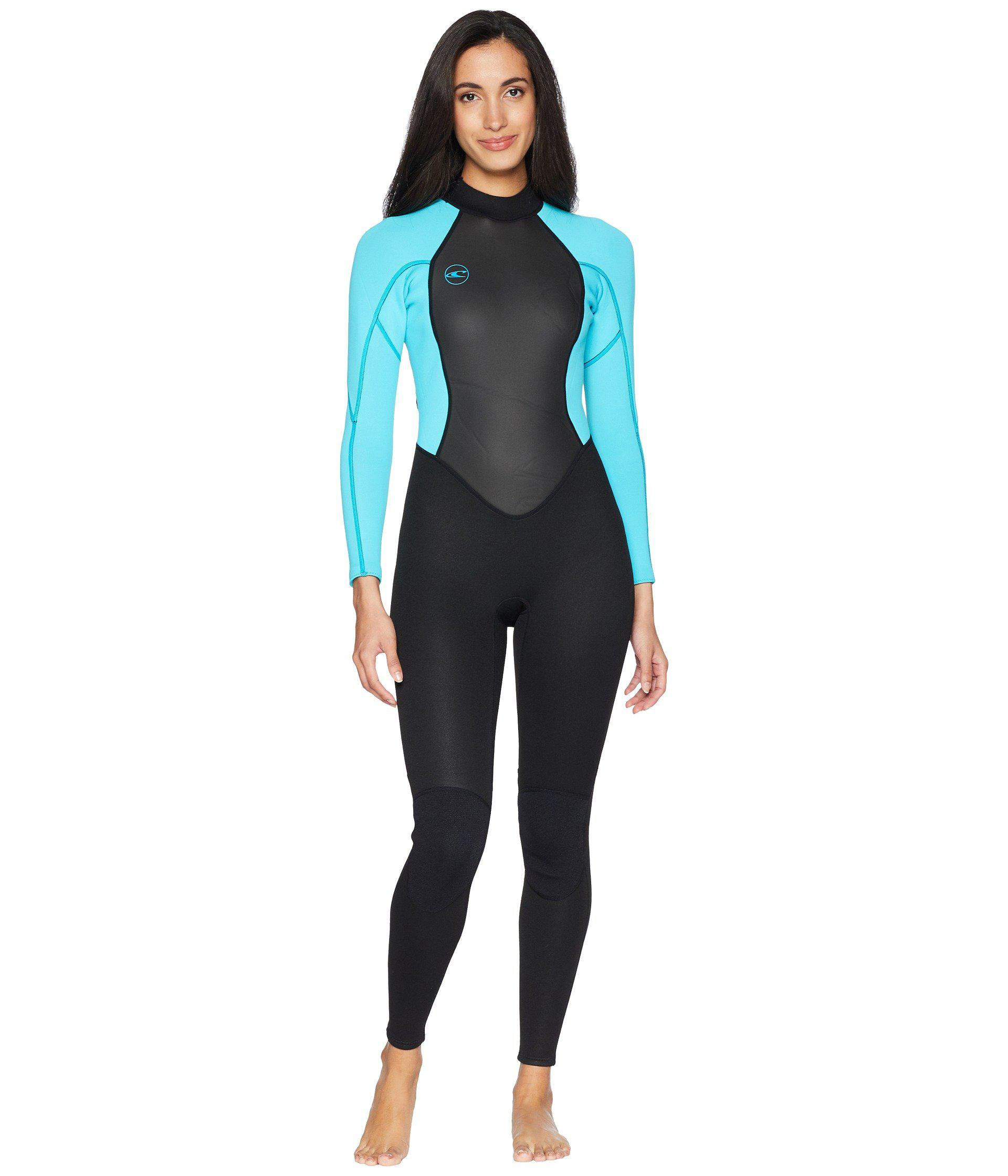 O neill Sportswear. Reactor-2 3 2 Back Zip Full (black light Aqua) Women s  Swimwear fa21674e9
