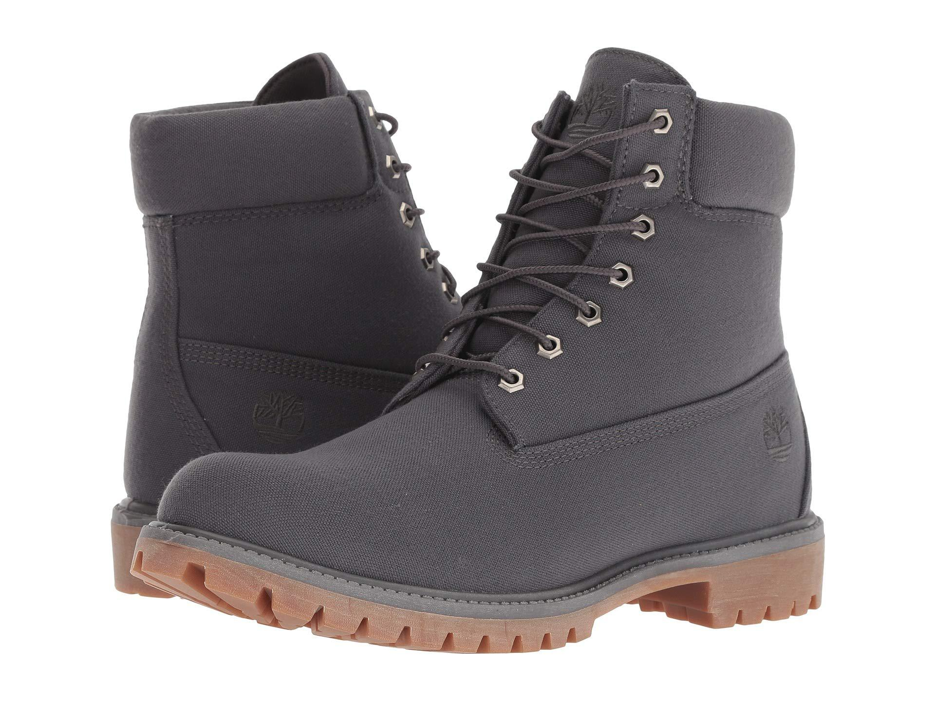 Pelágico pedal oído  Timberland 6 Premium Canvas Boot (forged Iron Canvas) Men's Lace-up Boots  for Men - Lyst