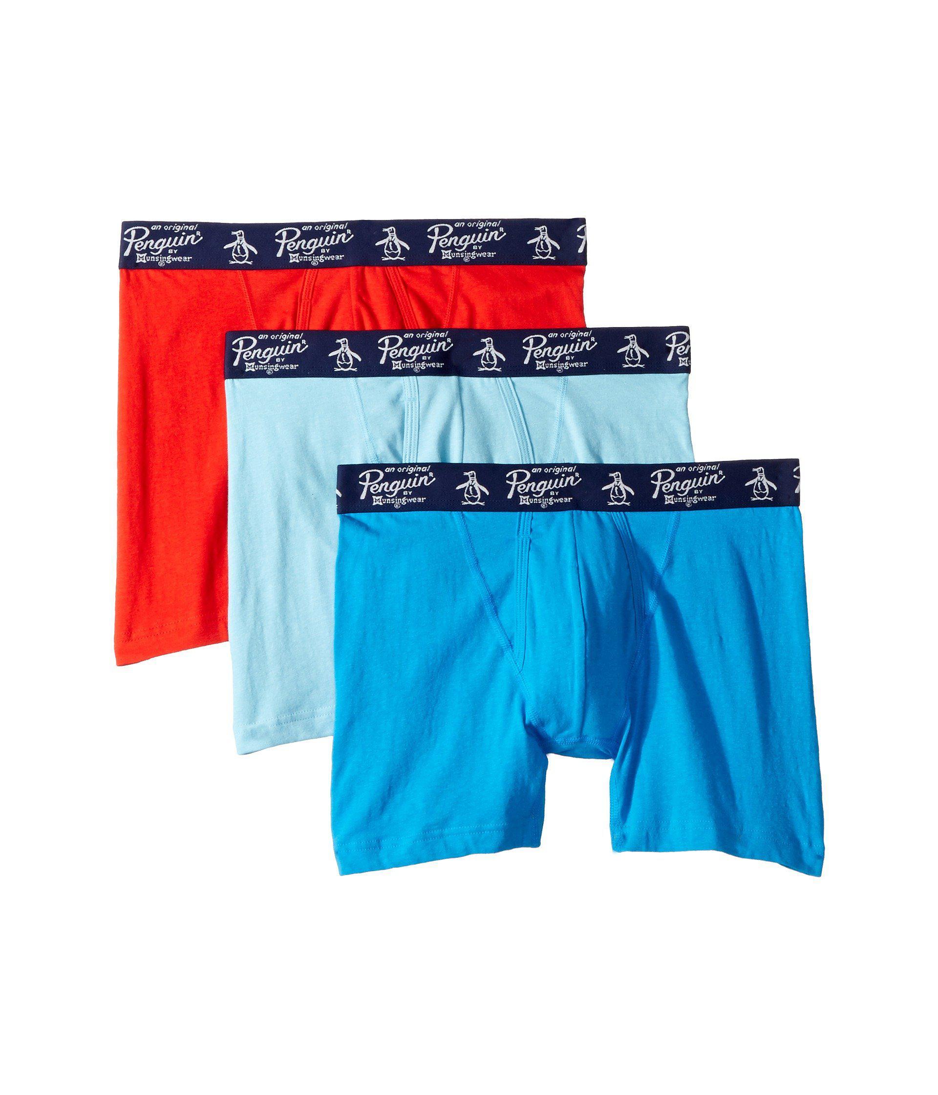 05cb5f8800a7 Original Penguin. Blue 100% Cotton 3 Pack Boxer Brief (black) Men's  Underwear