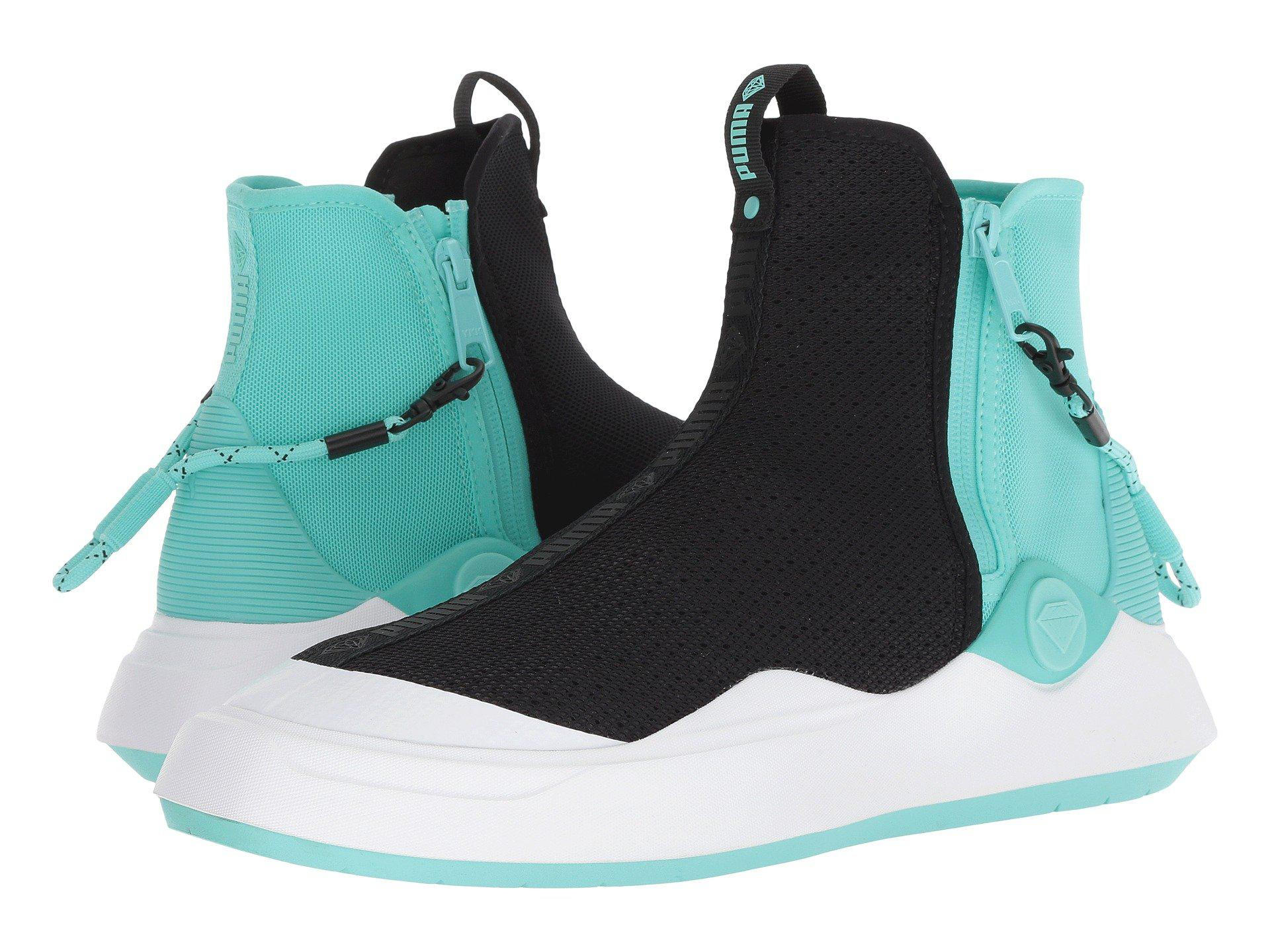 becd5b28e57c Lyst - PUMA Abyss Diamond ( Black diamond Blue) Men s Shoes in Black ...