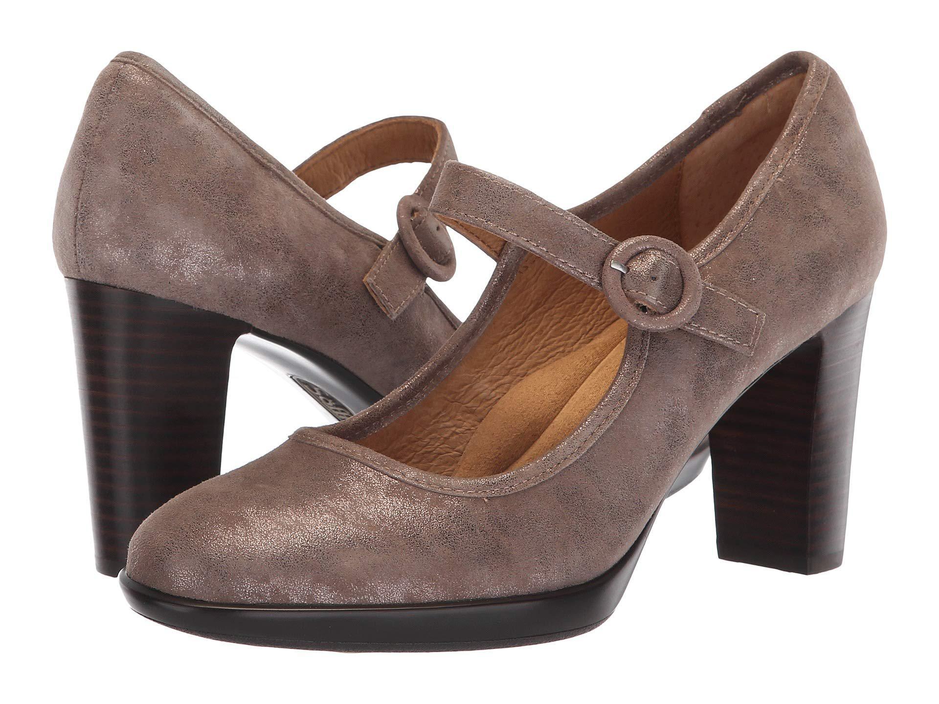 f283080fb82 Lyst - Söfft Natara (black King Suede goat Patent) High Heels in Brown