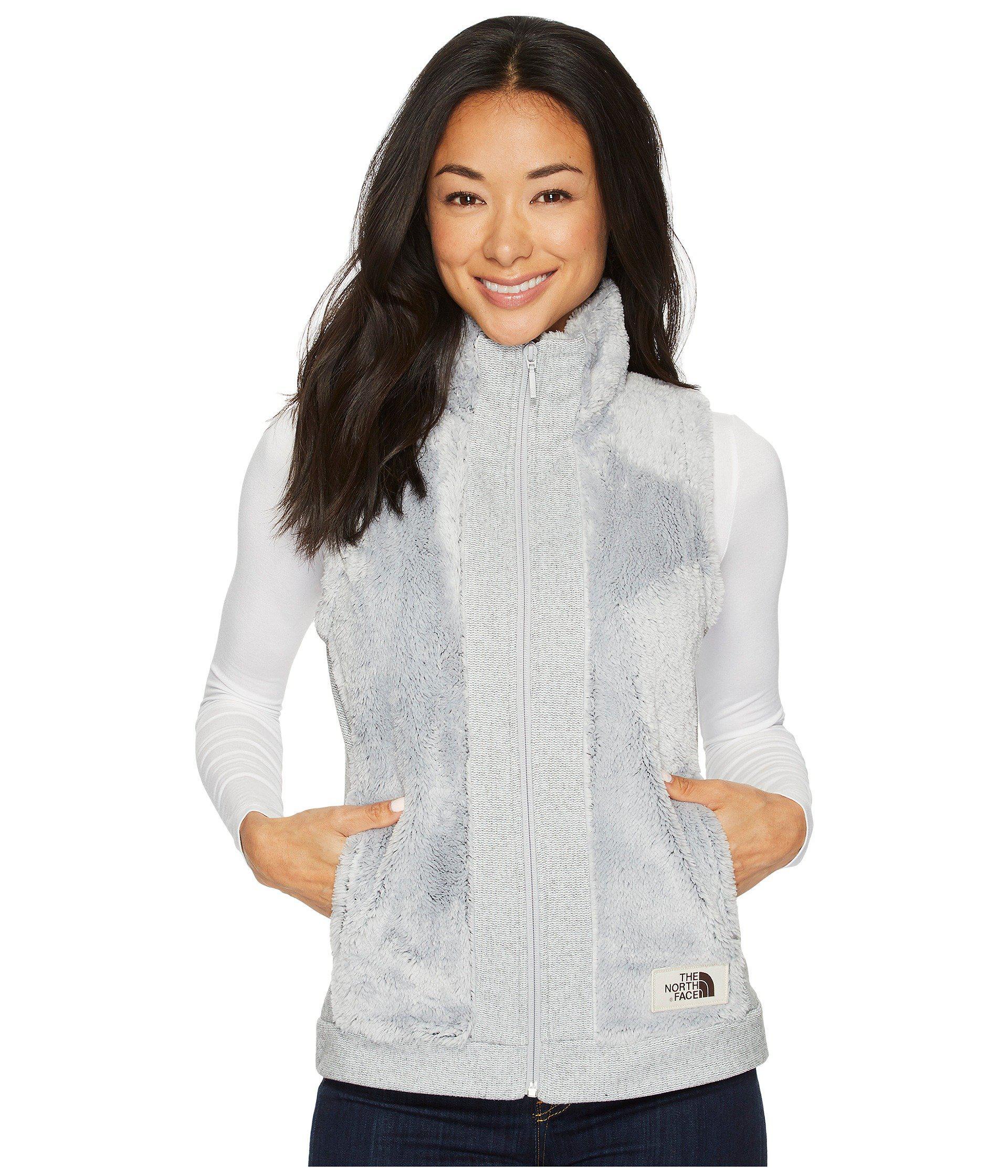 5e38d83bd Gray Furry Fleece Vest (vintage White) Women's Vest