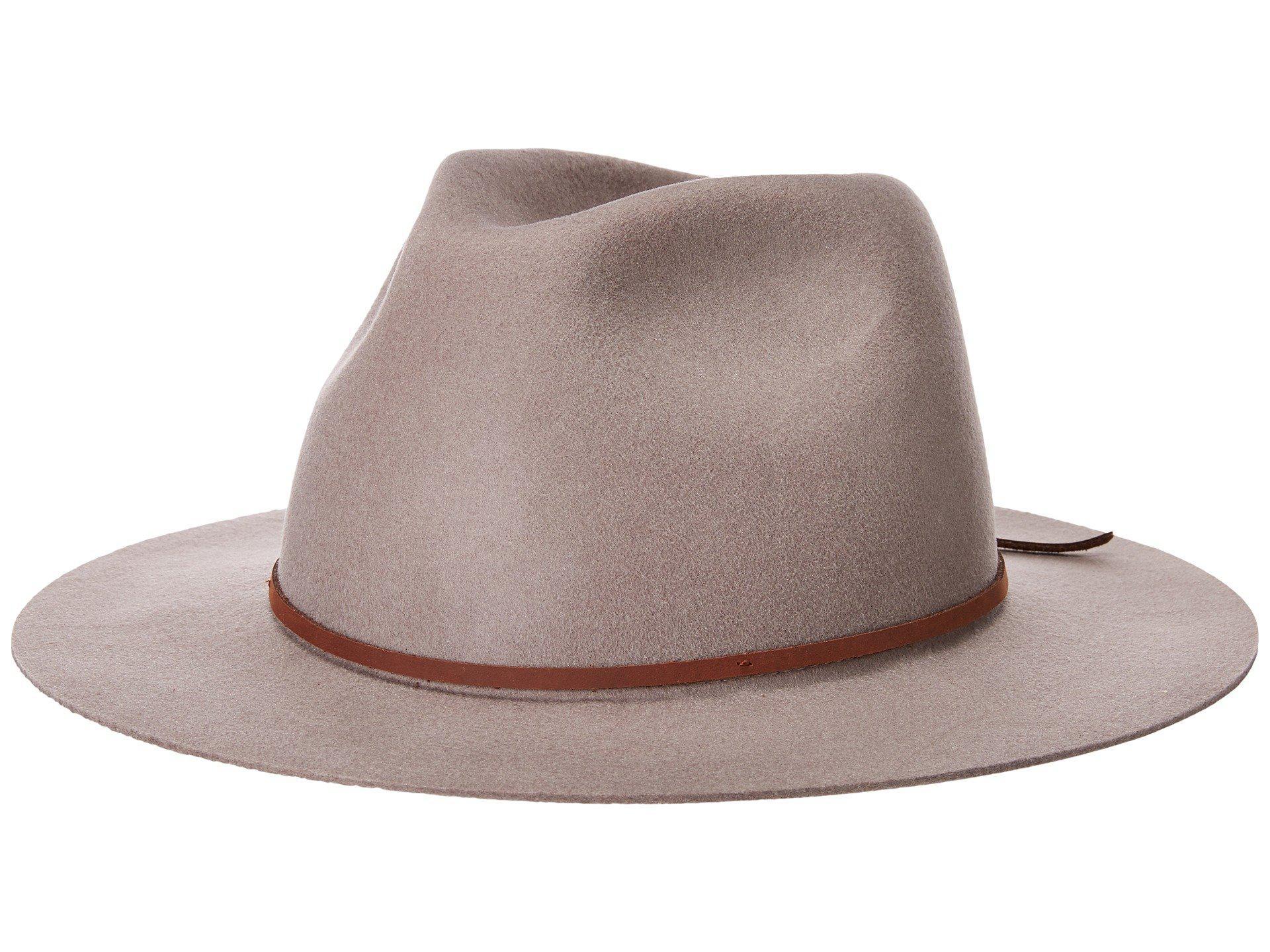 84a3ff200ea2b1 Lyst - Brixton Wesley Fedora (natural/dark Brown) Traditional Hats ...