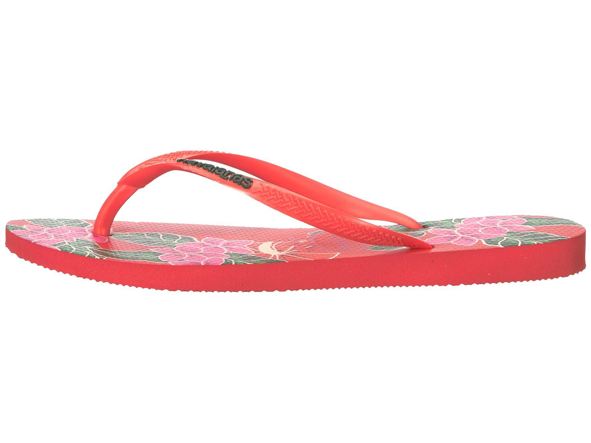 Havaianas Slim Floral Coral Womens Summer Flip Flops