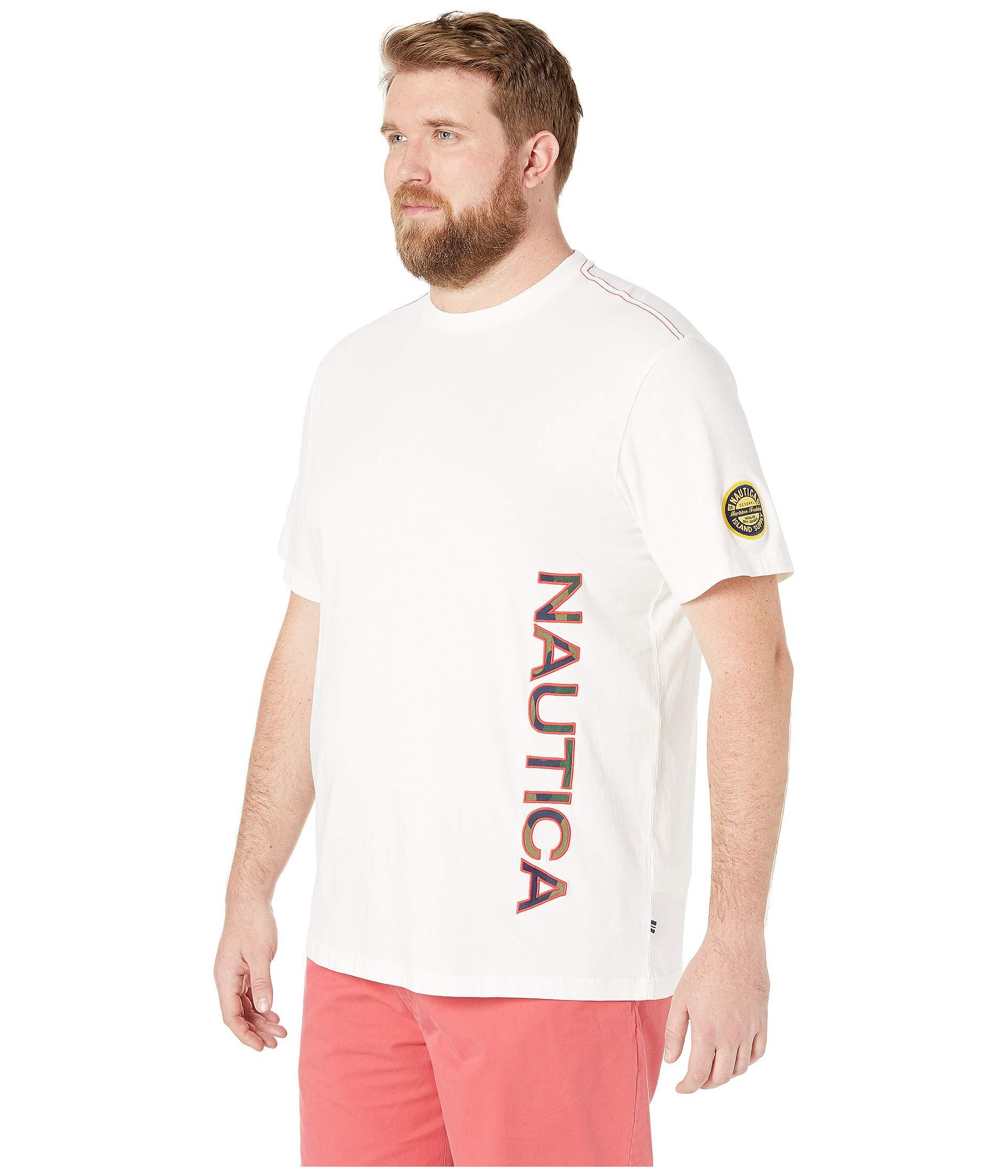 79466a7ee Nautica - Big Tall Applique Tee (sail White) Men's Clothing for Men - Lyst.  View fullscreen