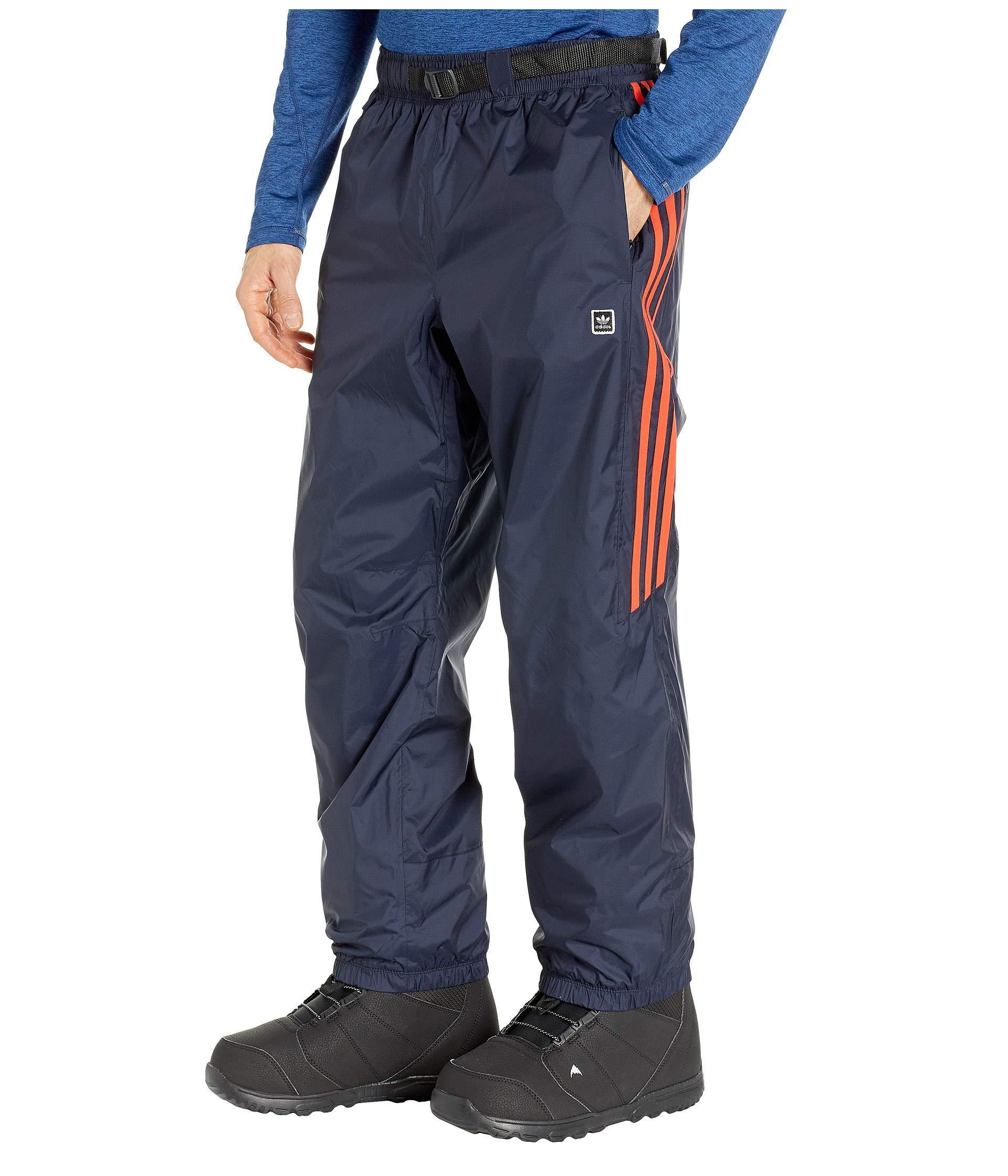 Adidas Originals Blue Slopetrotter Pants (legend Inkhires Red) Men's Casual Pants for men