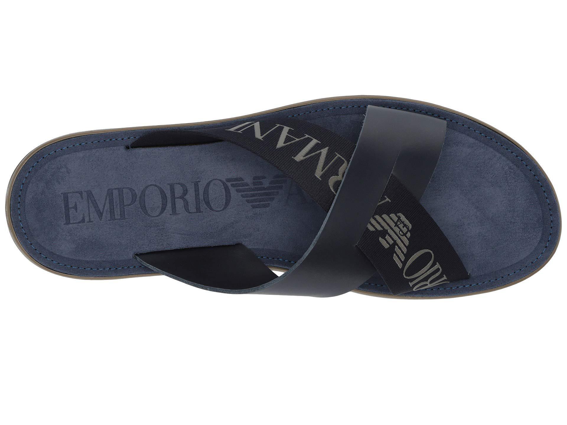 def12f3705e1e8 Emporio Armani - Black Dubai Sandal (night) Men s Sandals for Men - Lyst.  View fullscreen